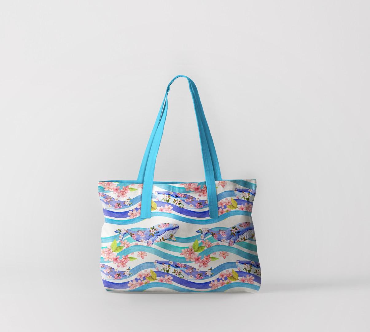 Пляжная сумка Киты на волнах (50х40 см) Олимп Текстиль oli732571