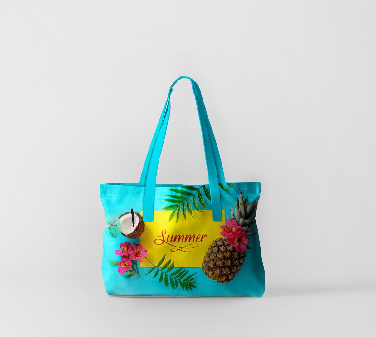 Пляжная сумка Лето с фруктами 2 (50х40 см) Олимп Текстиль oli732575
