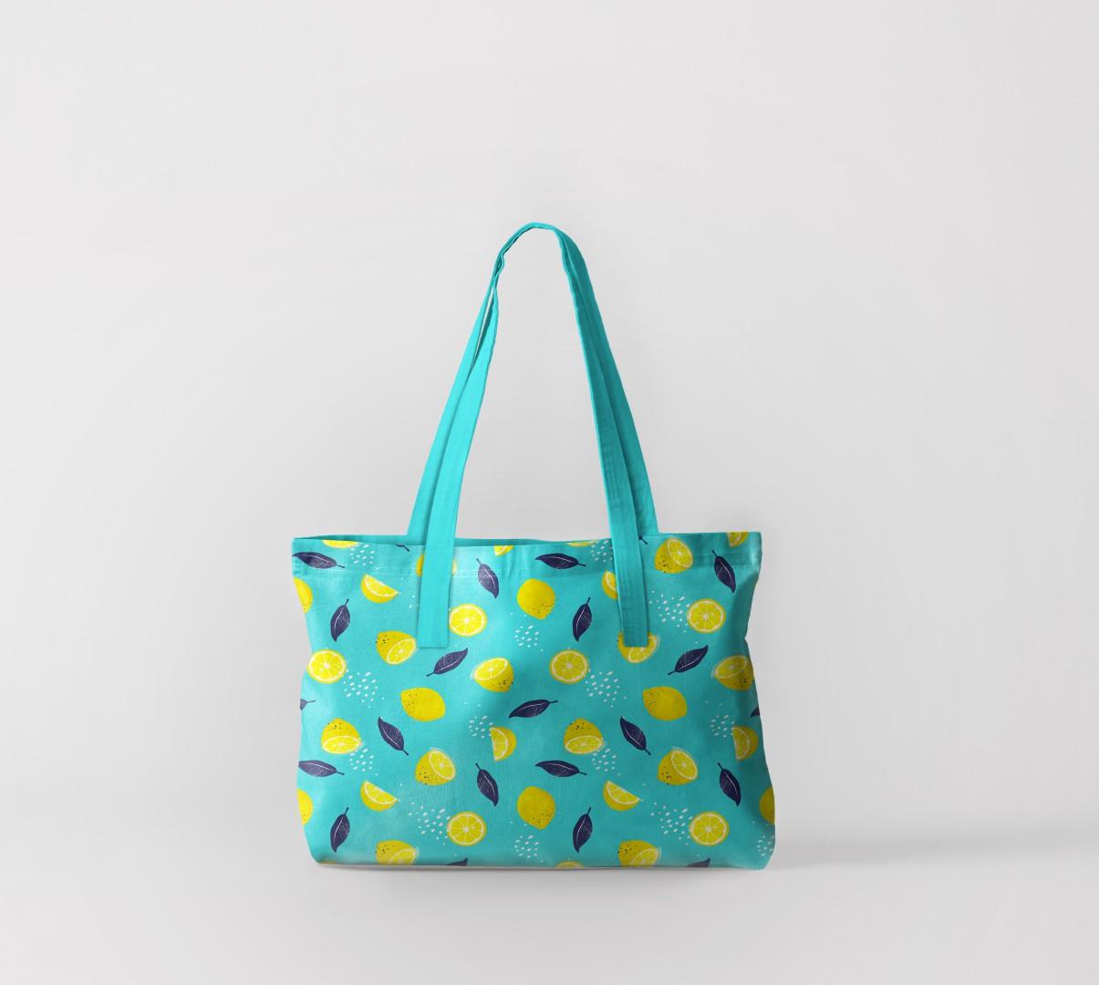Пляжная сумка Лимоны и листья (50х40 см) Олимп Текстиль oli732577