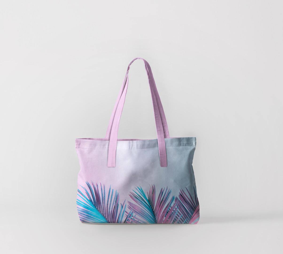 Пляжная сумка Листья пальмы 1 (50х40 см) Олимп Текстиль oli732578