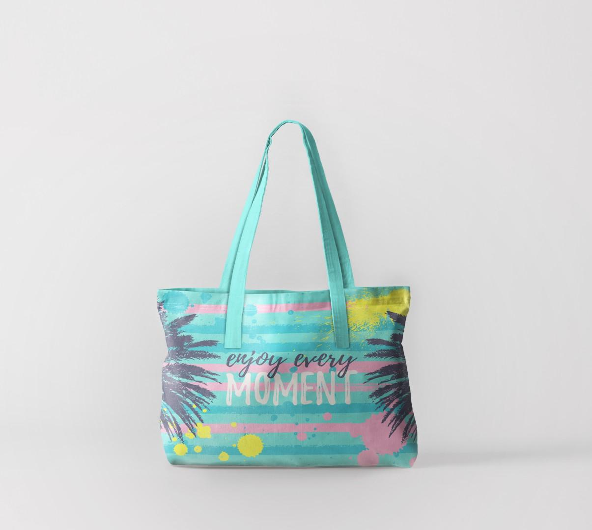 Пляжная сумка Наслаждайся каждым моментом (50х40 см) Олимп Текстиль oli732582