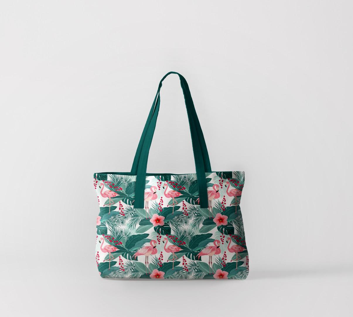 Пляжная сумка Пальмы и фламинго (50х40 см) Олимп Текстиль oli732587