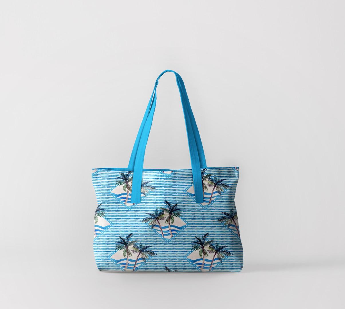 Пляжная сумка Пальмы и волны (50х40 см) Олимп Текстиль oli732586