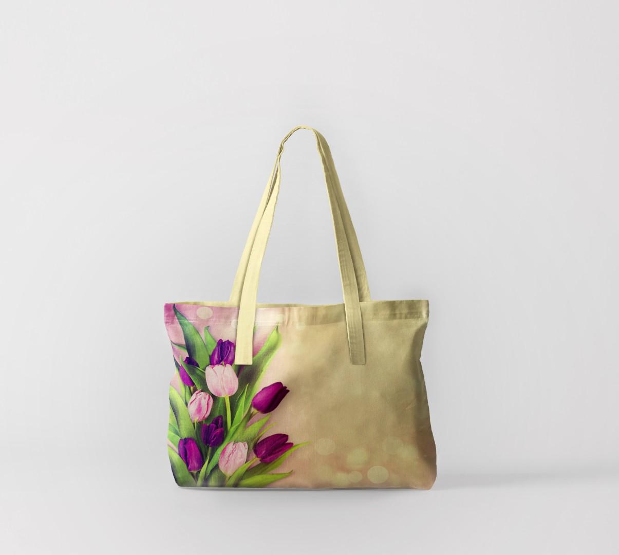 Пляжная сумка Праздничные тюльпаны (50х40 см) Олимп Текстиль oli732590
