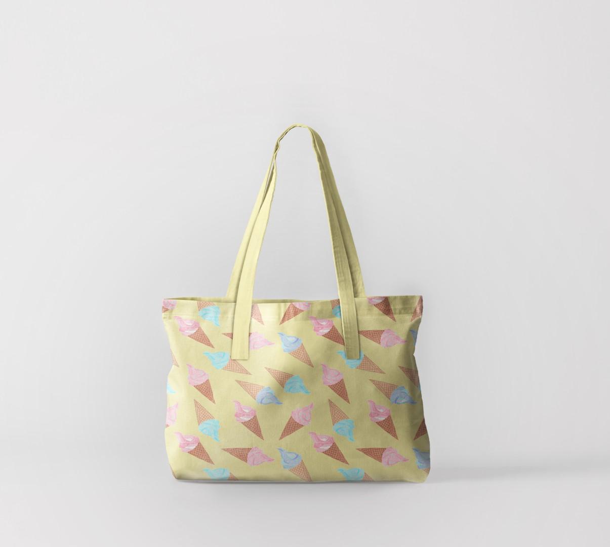 Пляжная сумка Рожки с мороженым (50х40 см) Олимп Текстиль oli732592