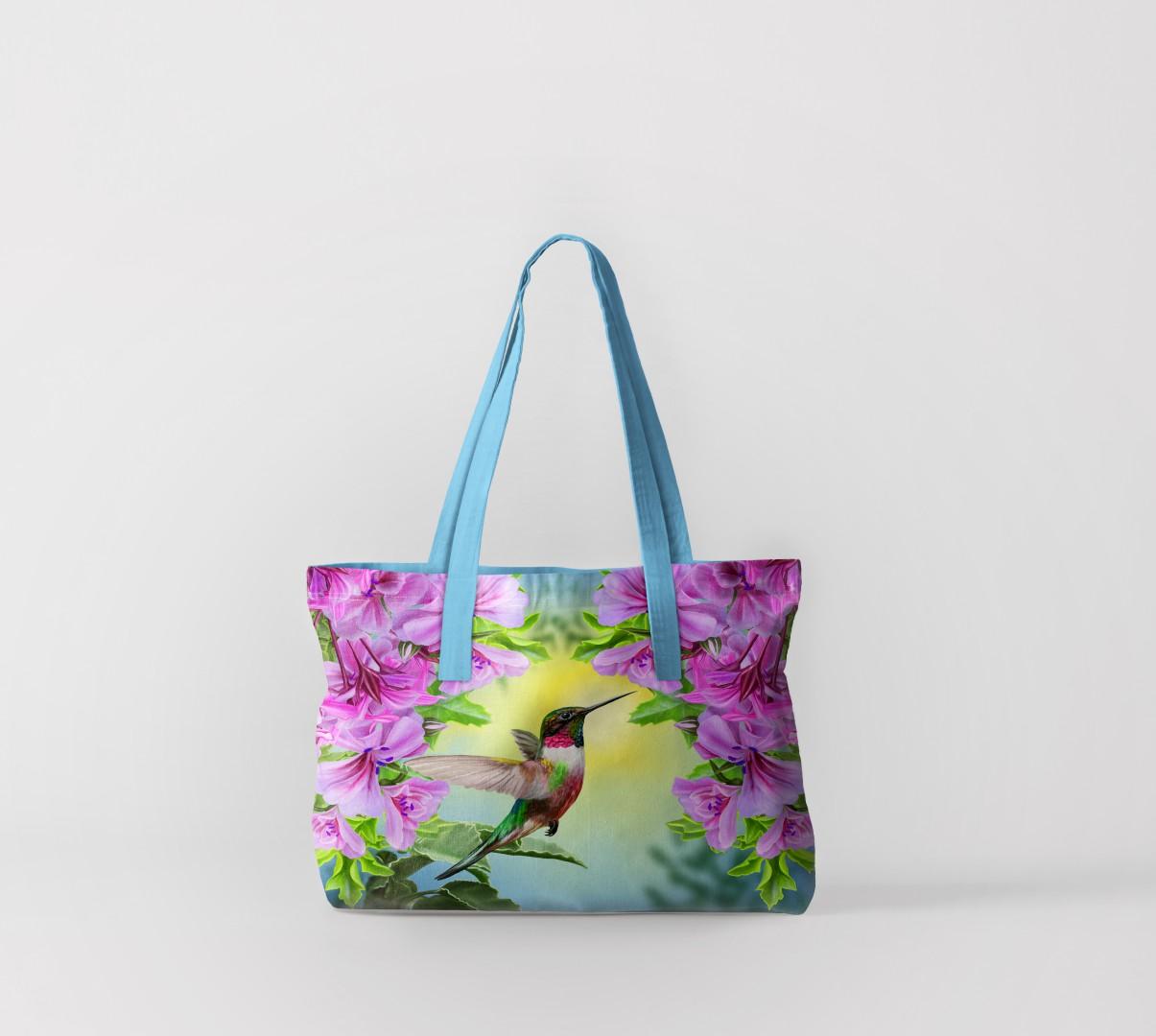 Пляжная сумка Сказочный колибри (50х40 см) Олимп Текстиль oli732594