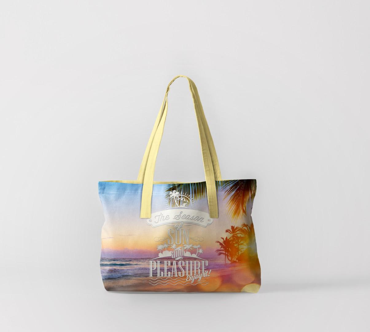 Пляжная сумка Теплый закат на пляже 1 (50х40 см) Олимп Текстиль oli732595