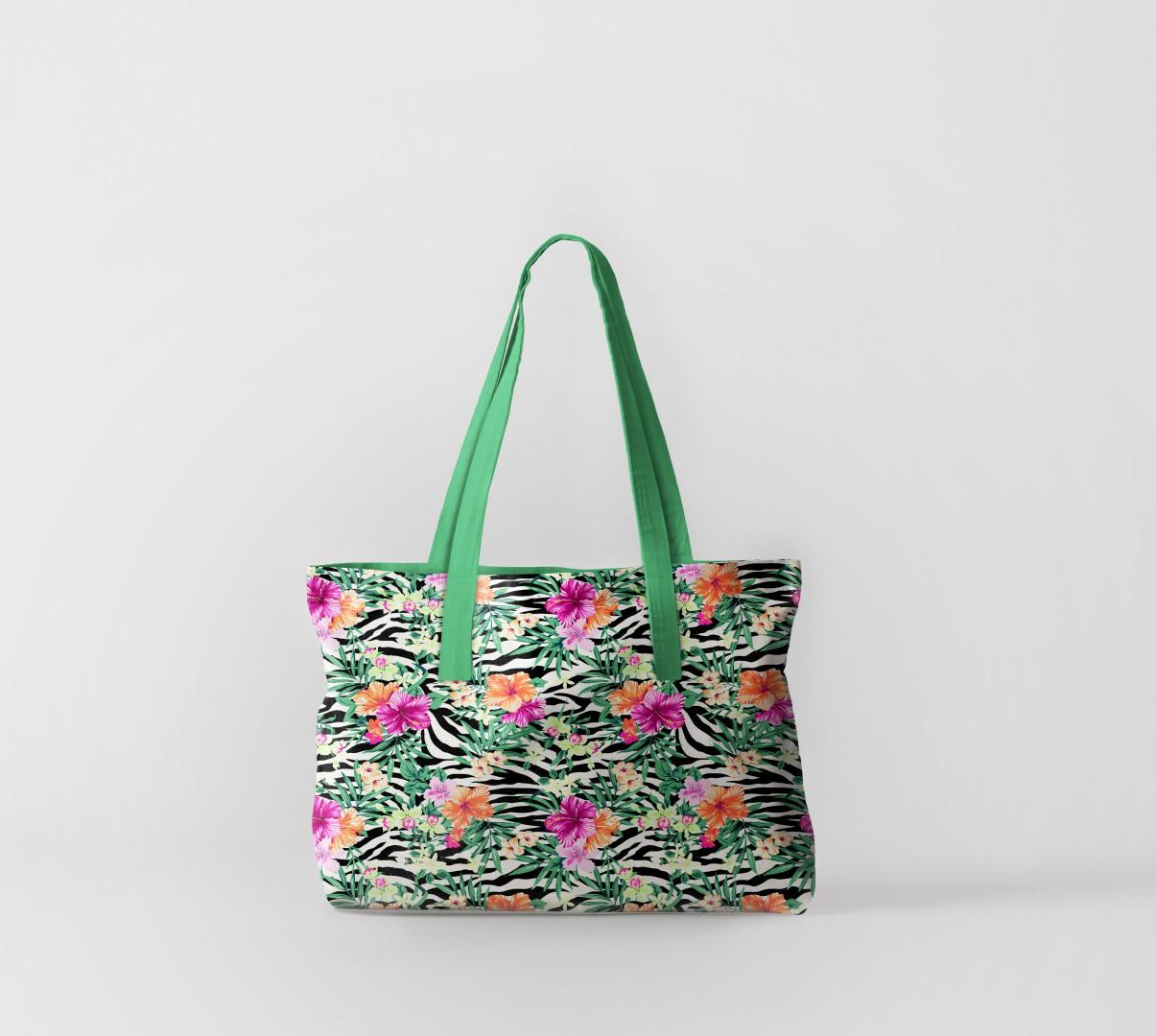 Пляжная сумка Тропические цветы (50х40 см) Олимп Текстиль oli732596
