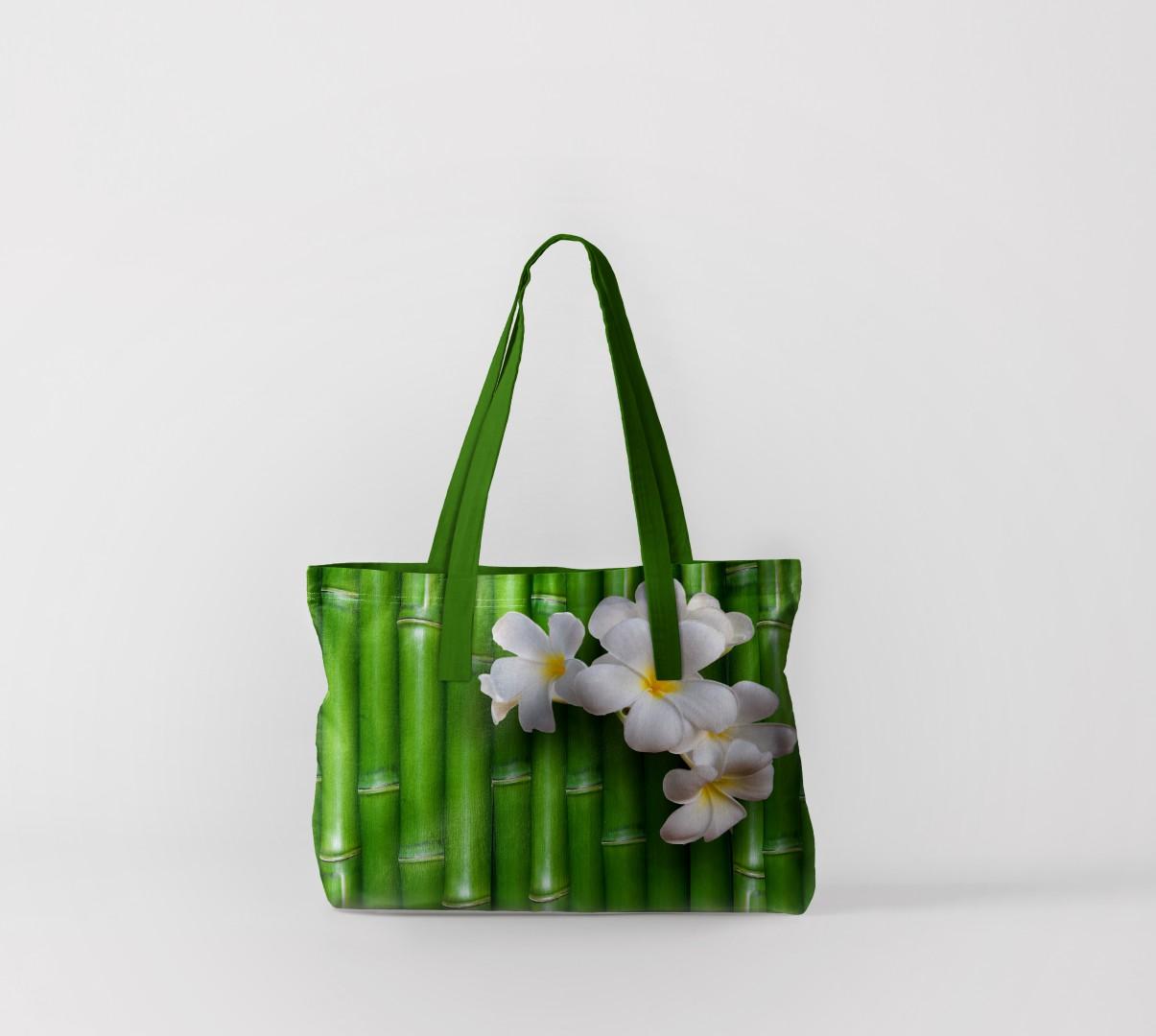 Пляжная сумка Цветы на бамбуке (50х40 см) Олимп Текстиль oli732612