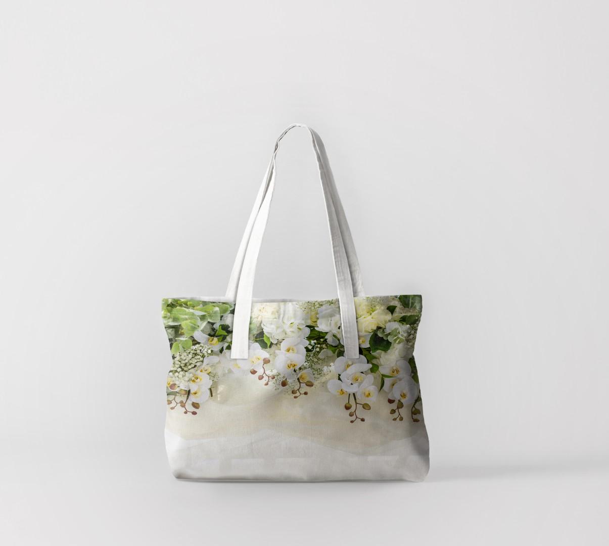 Пляжная сумка Верх из орхидей (50х40 см) Олимп Текстиль oli732560