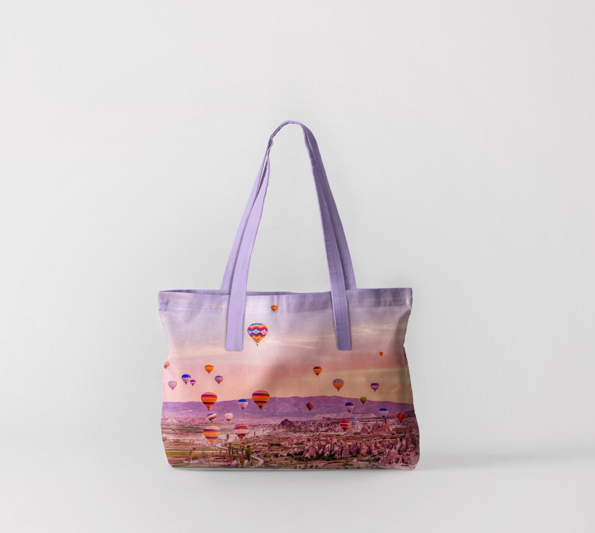 Пляжная сумка Воздушные шары над горами (50х40 см) Олимп Текстиль oli732562