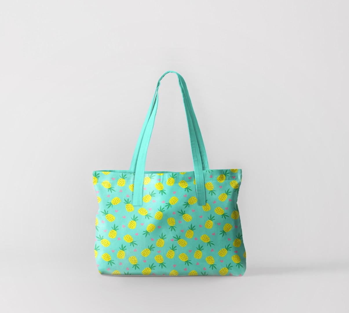 Пляжная сумка Яркие ананасы (50х40 см) Олимп Текстиль oli732615