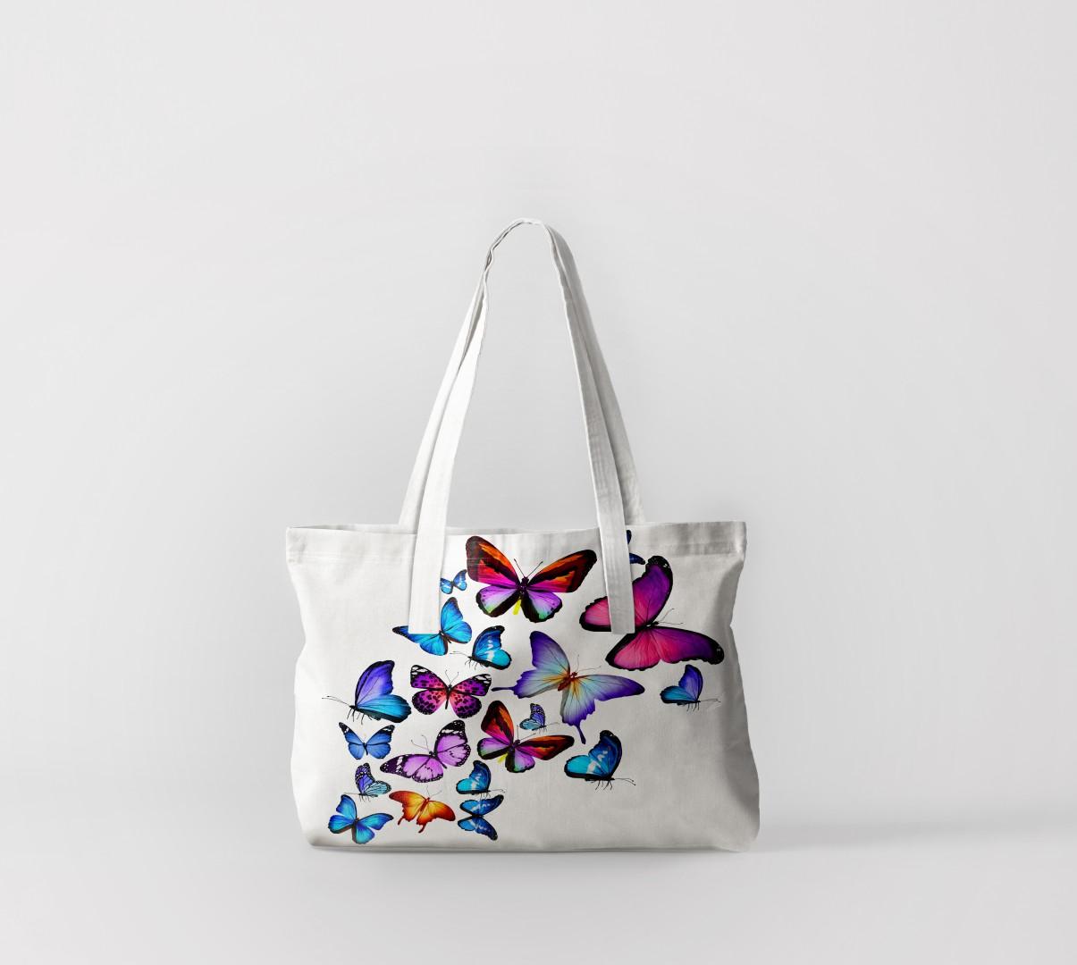 Пляжная сумка Яркие бабочки 4 (50х40 см) Олимп Текстиль oli732616