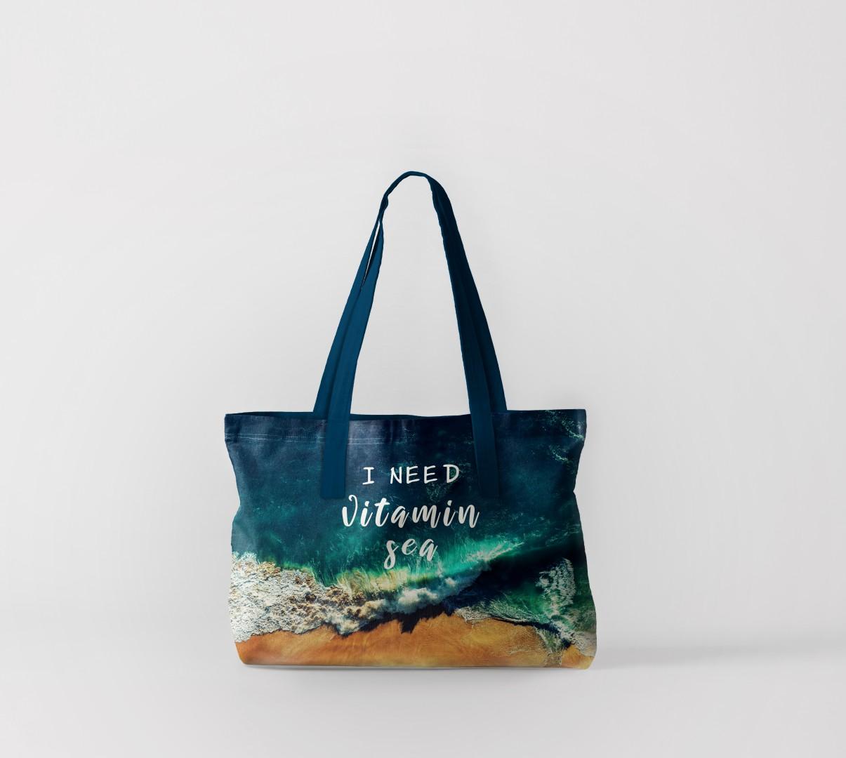 Пляжная сумка Жажда океана (50х40 см) Олимп Текстиль oli732568