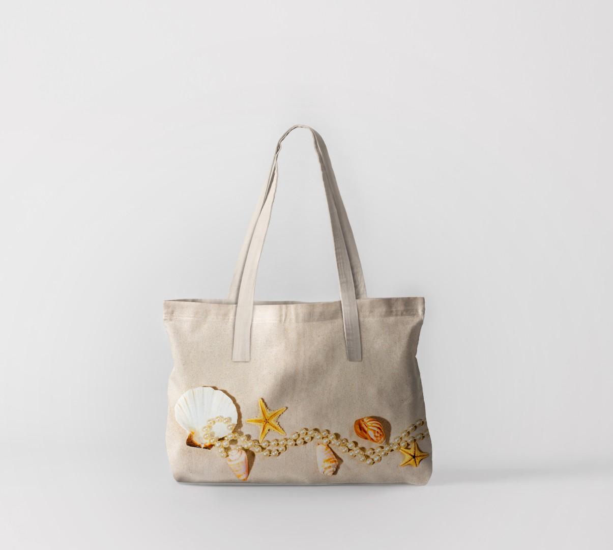 Пляжная сумка Жемчужное колье (50х40 см) Олимп Текстиль oli732569