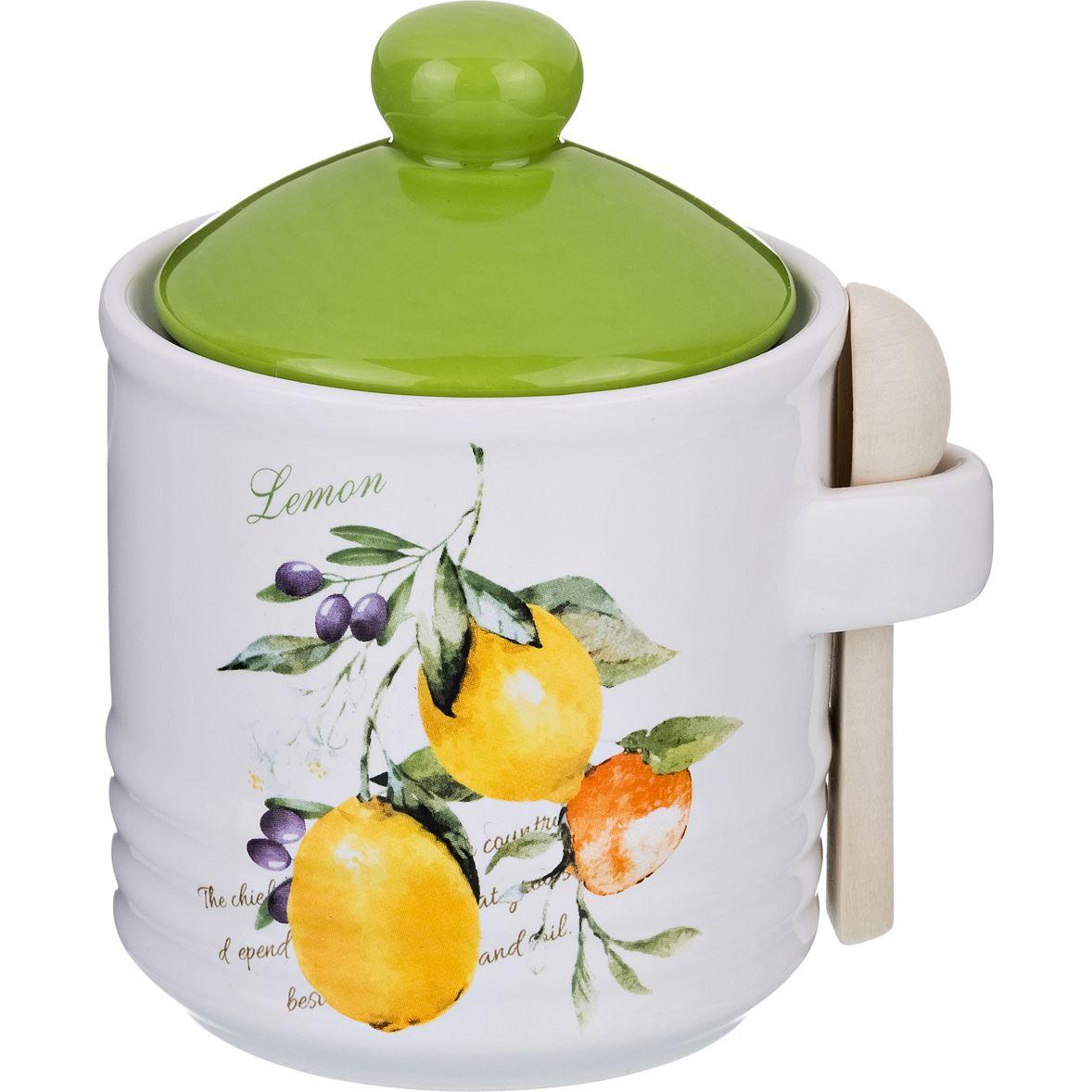 Купить Хранение продуктов Lefard, Банка для сыпучих продуктов Итальянские Лимоны (8х8х11 см), Китай, Голубой, Зеленый, Керамика