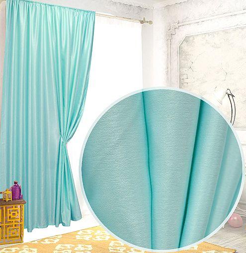 Классические шторы Giana Цвет: Бирюзовый