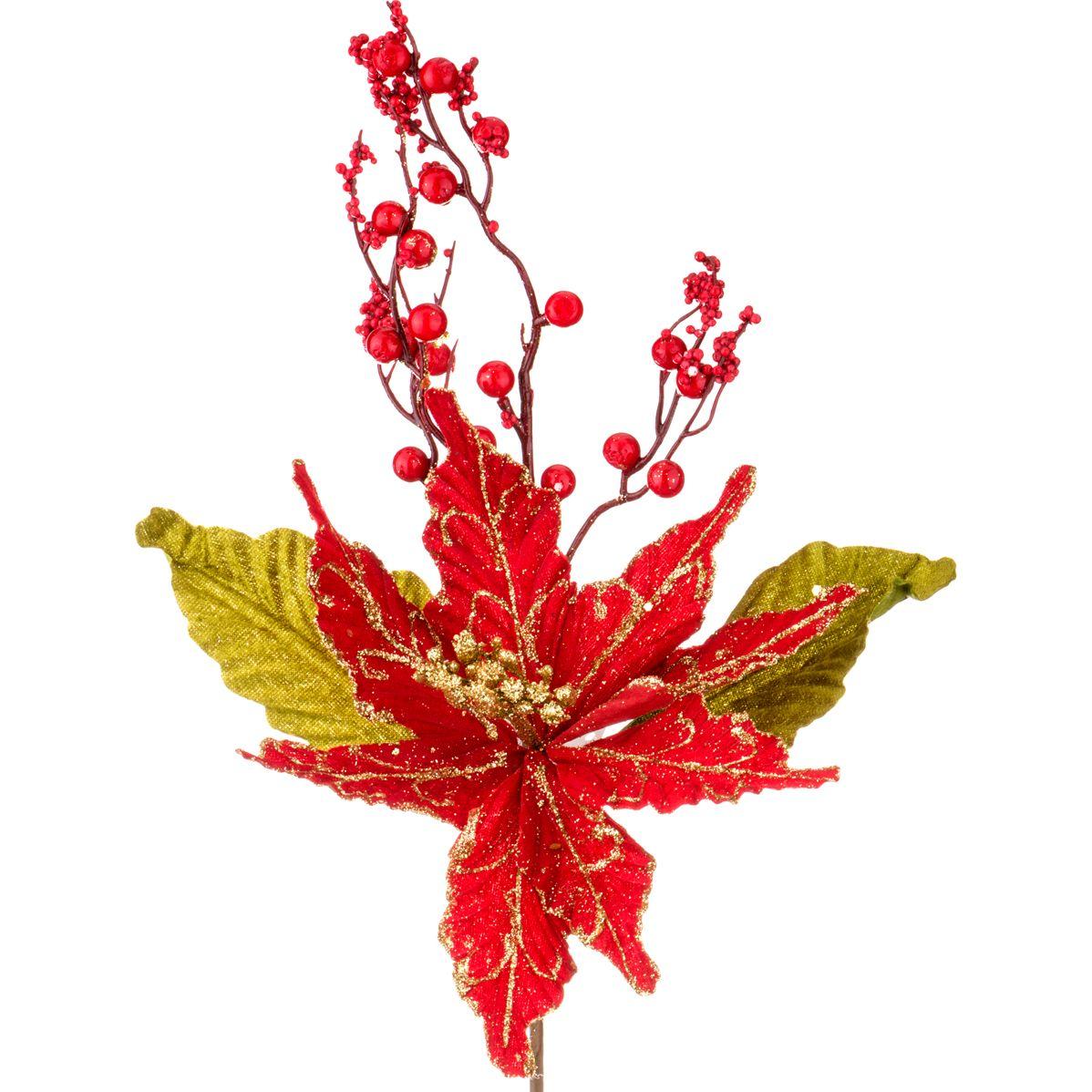 Цветок искусственный Пуатенсия (45 см) Lefard lfr429801