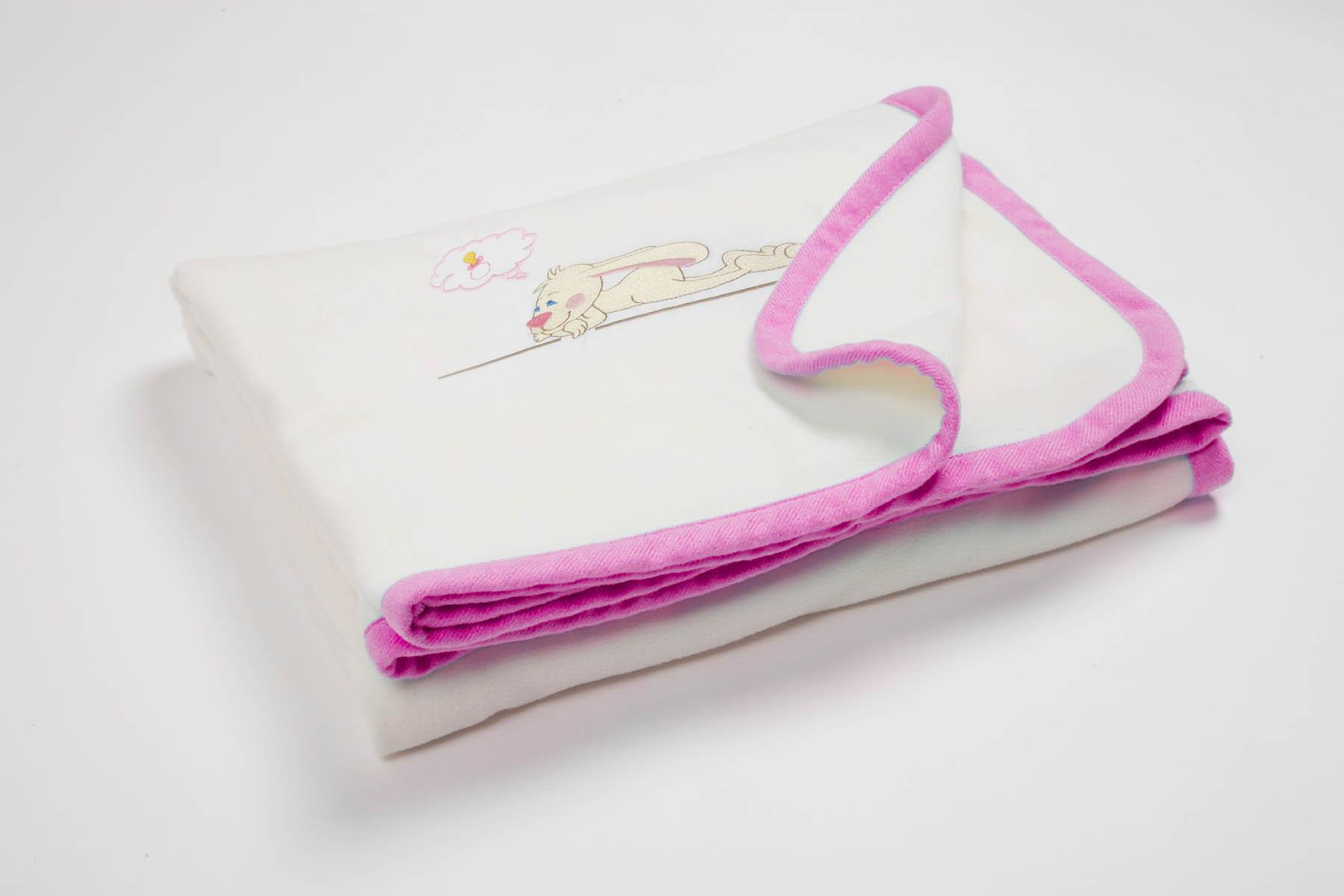 Купить Покрывала, подушки, одеяла для малышей Primavelle, Детский плед Lovely Цвет: Розовый (80х100 см), Россия, Синтетический флис