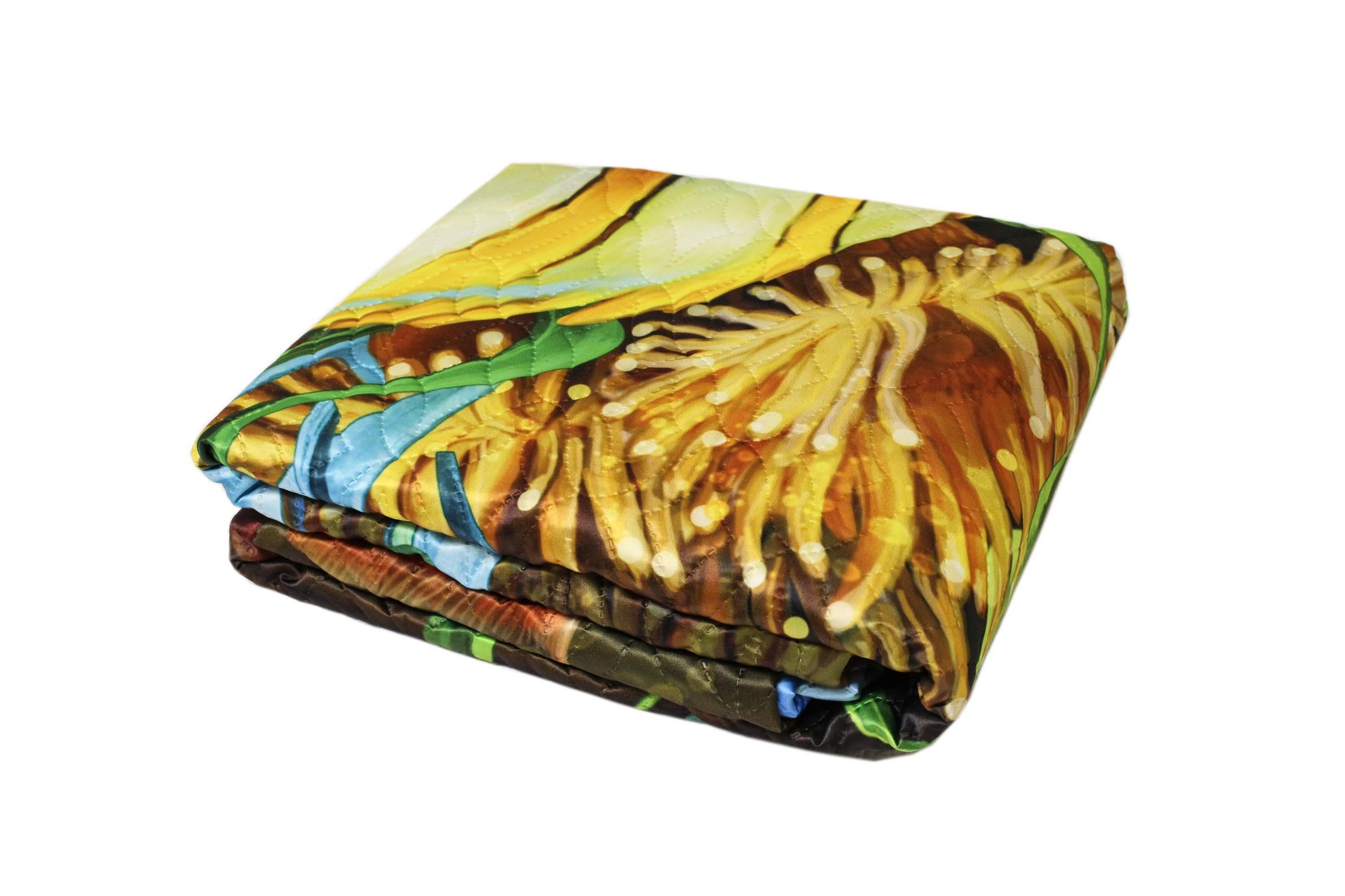 Купить Пледы и покрывала StickButik, Покрывало Ephah (140х200 см), Россия, Мультиколор, Синтетический сатин