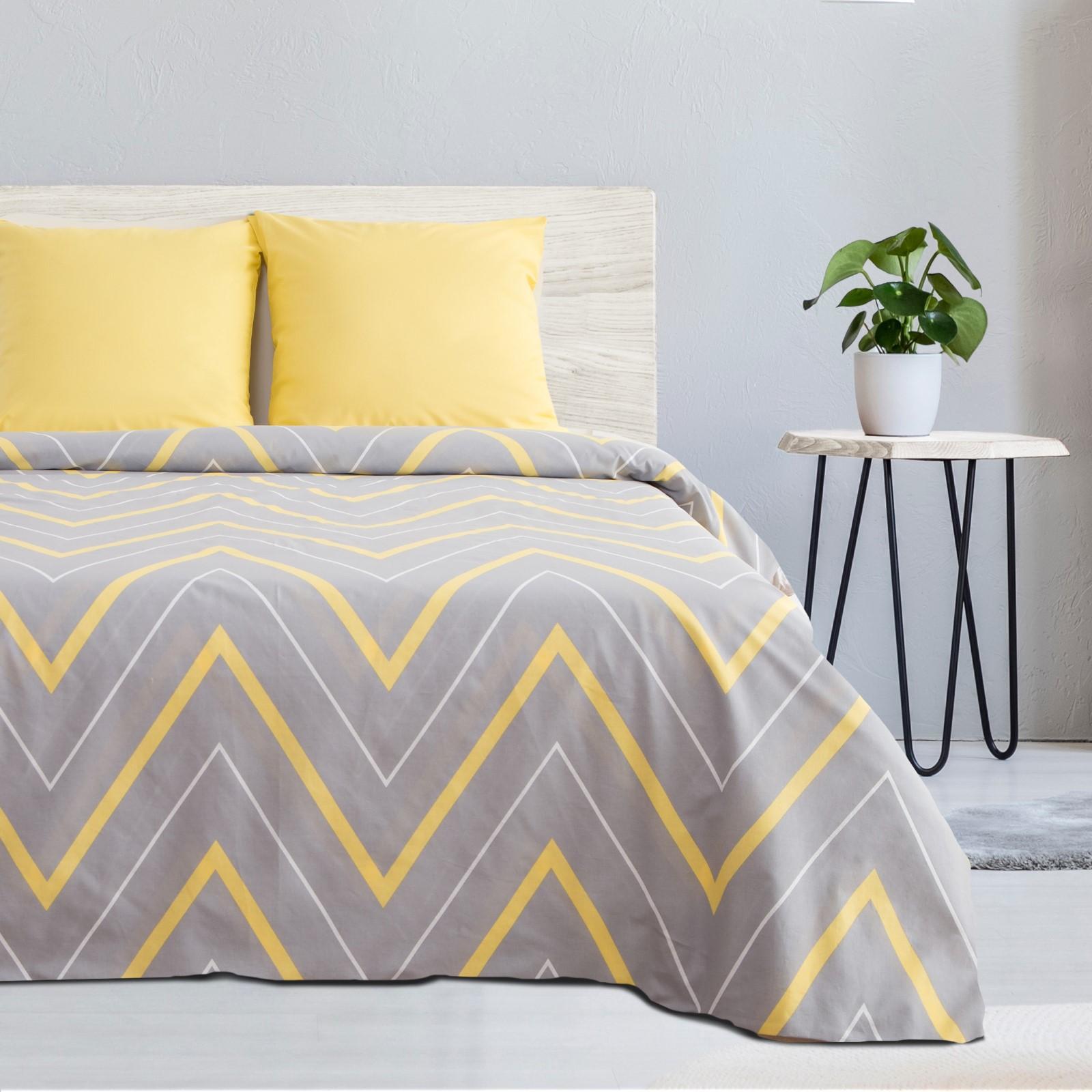 Постельное белье Taylor Цвет: Желто-Серый (2 сп. евро) фото