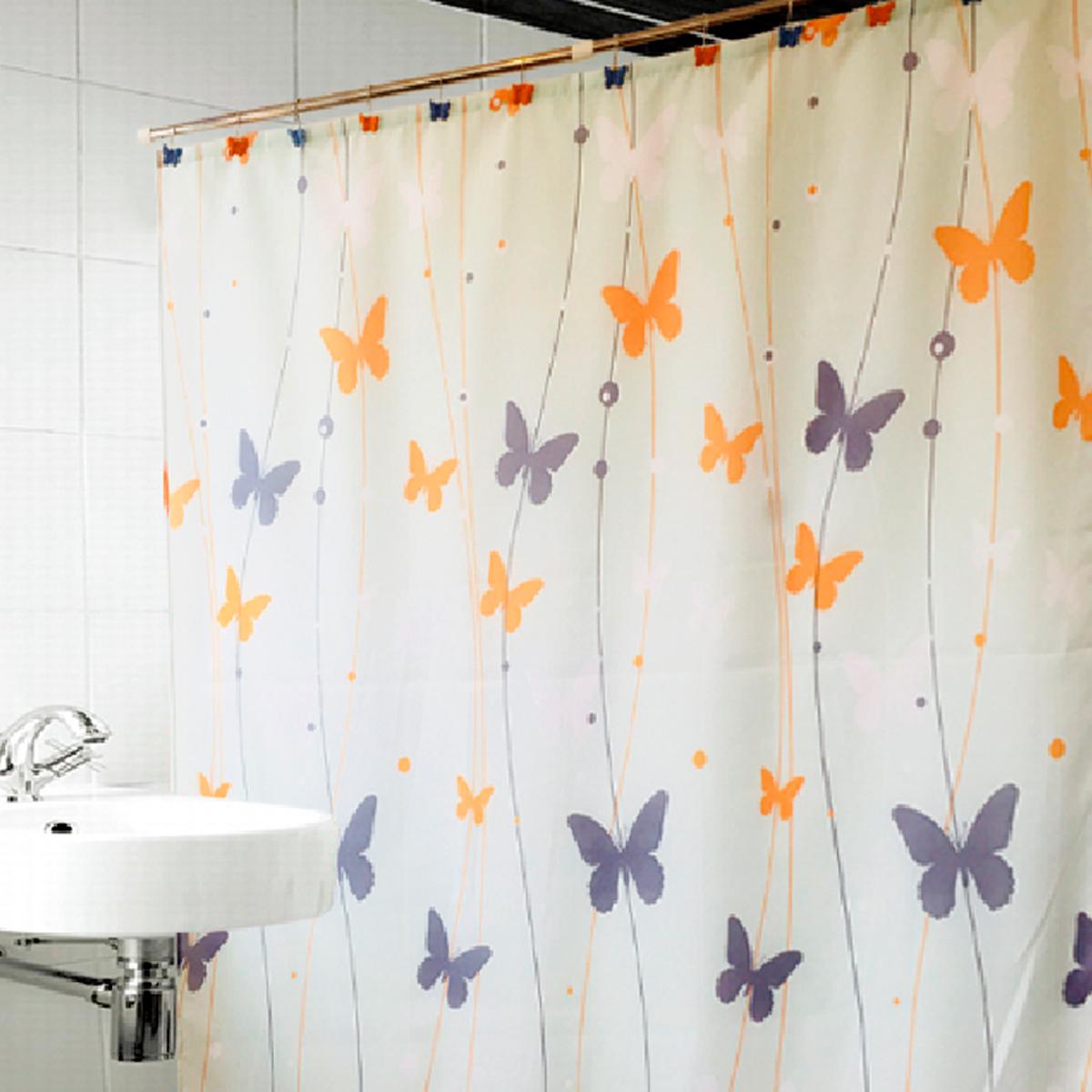 Купить Шторы и карнизы Arya, Шторы для ванной Spring, Турция, Оранжевый, Фиолетовый, Полиэстер