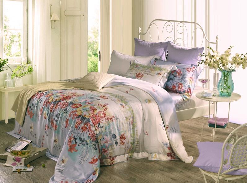 Купить Комплекты постельного белья SL, Постельное белье Graham (2 сп. евро), Китай, Белый, Синий, Модал