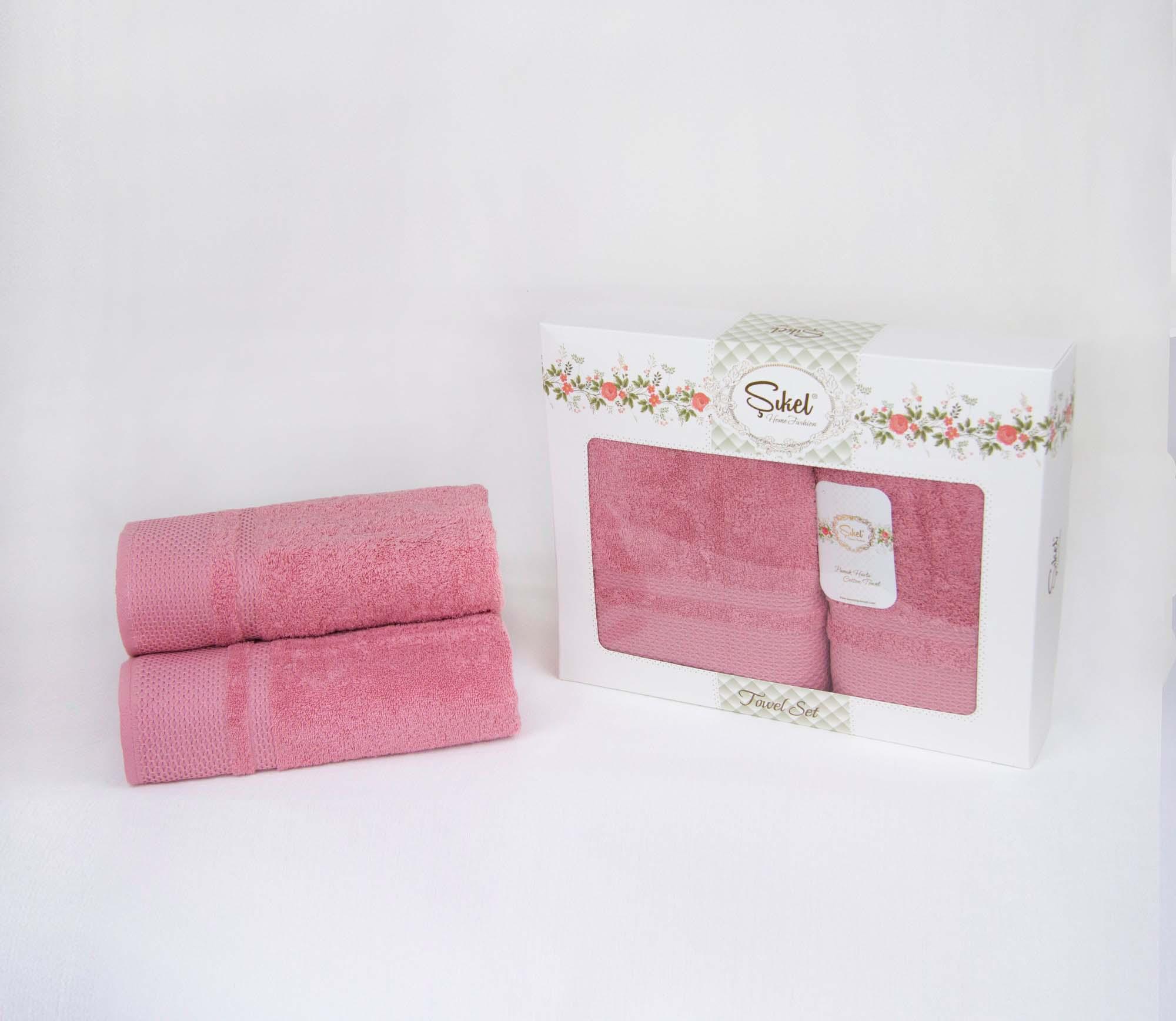 Набор полотенец Latisha Цвет: Пудра (50х90 см,70х140 см)
