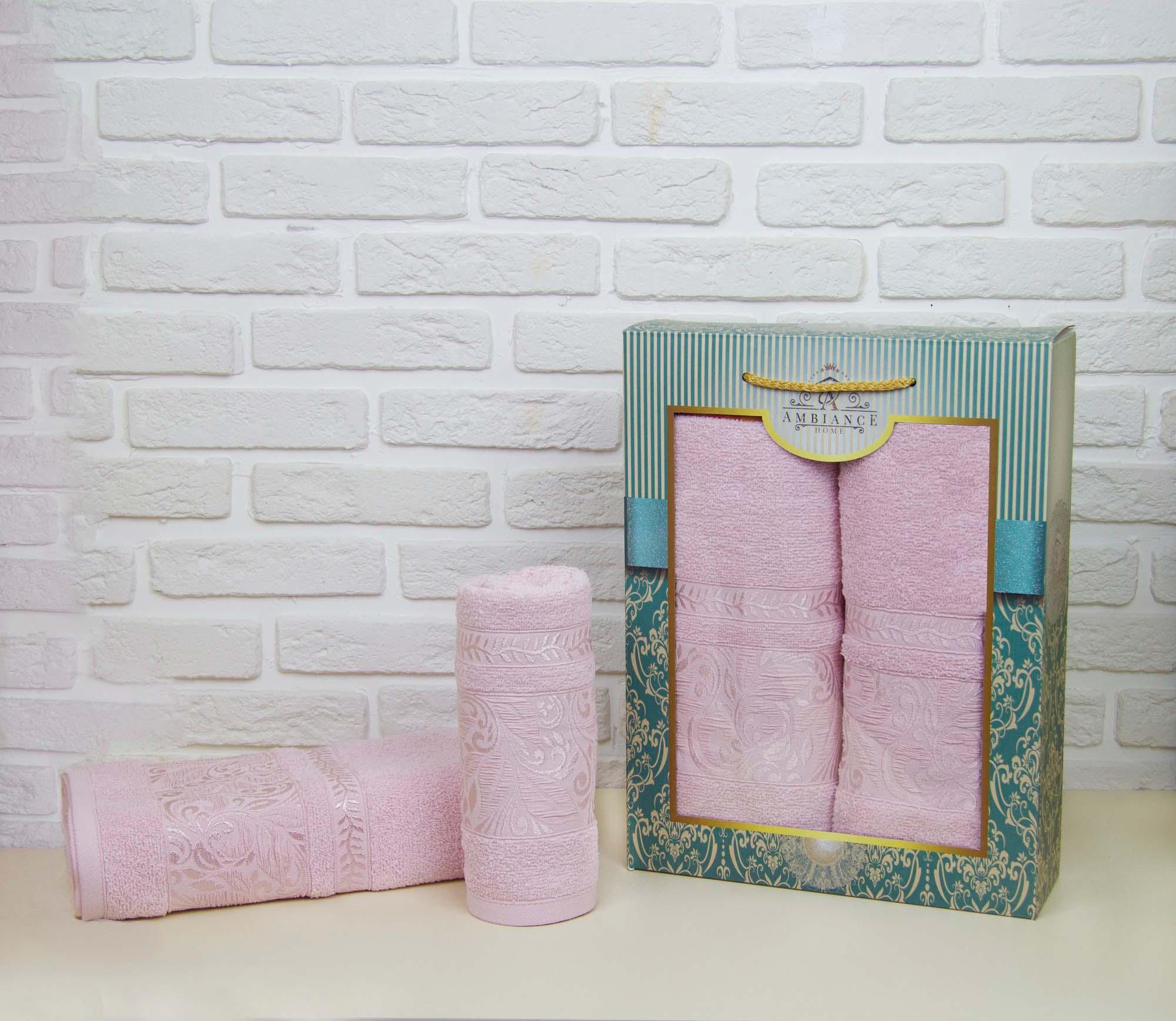 Набор полотенец Mahli Цвет: Розовый (50х90 см,70х140 см)
