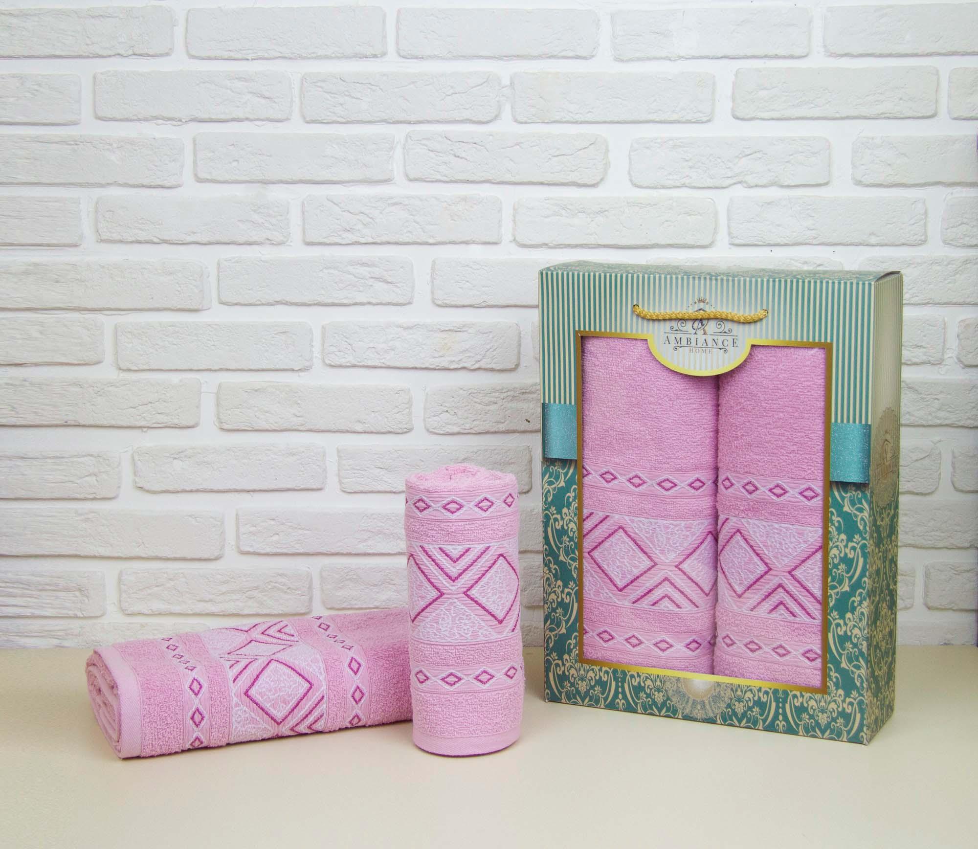 Набор полотенец Phillis Цвет: Розовый (50х90 см,70х140 см)
