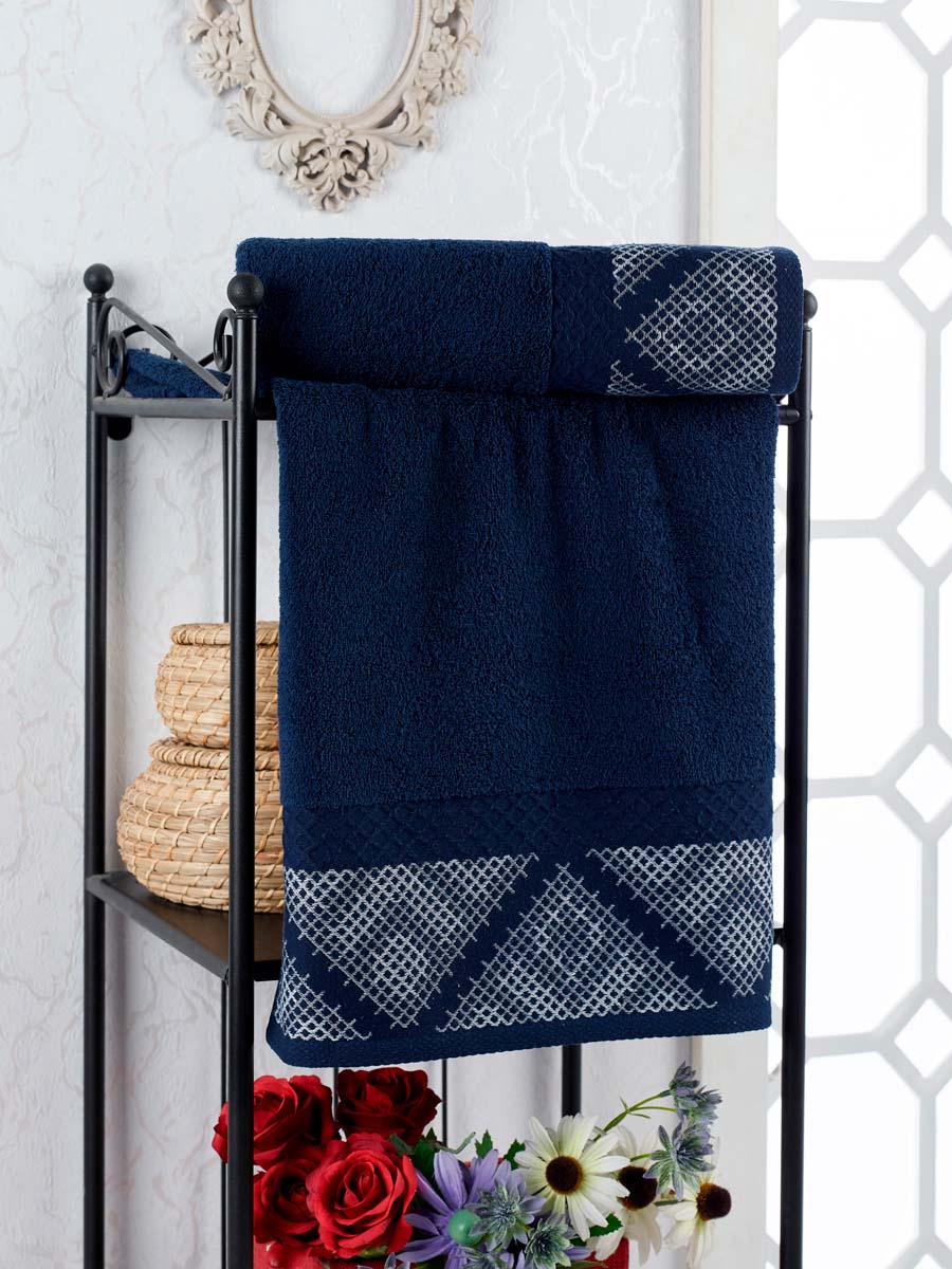 Полотенце Rosheen Цвет: Синий (70х140 см)