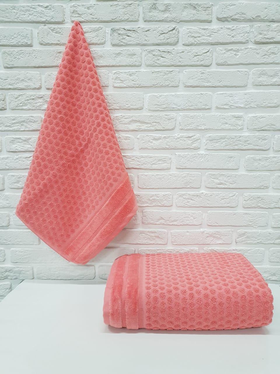 Полотенце Temple Цвет: Коралловый (70х140 см)