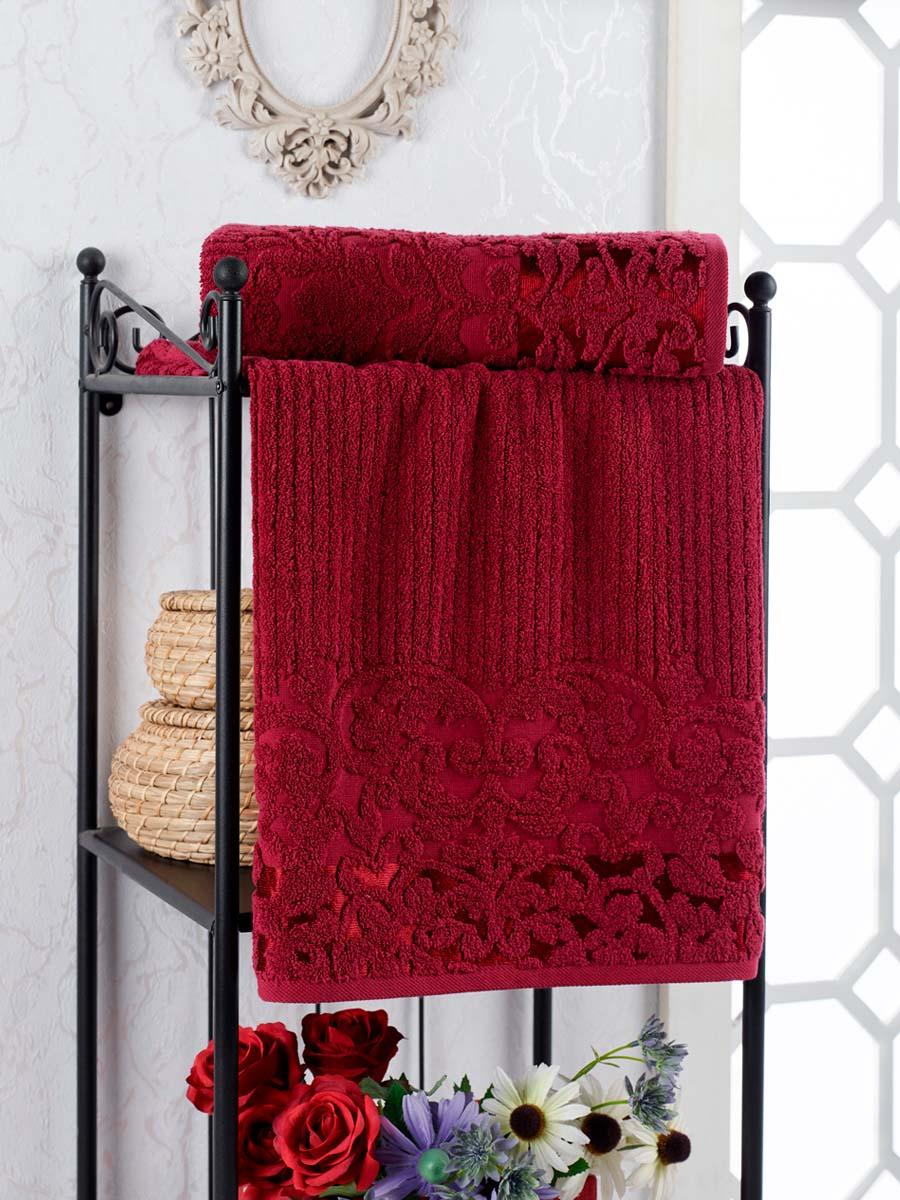 Полотенце Nonie Цвет: Бордовый (50х90 см)
