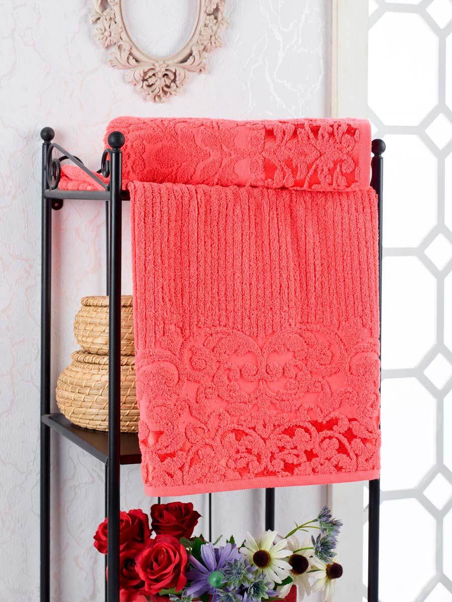 Полотенце Nonie Цвет: Гранатовый (50х90 см)