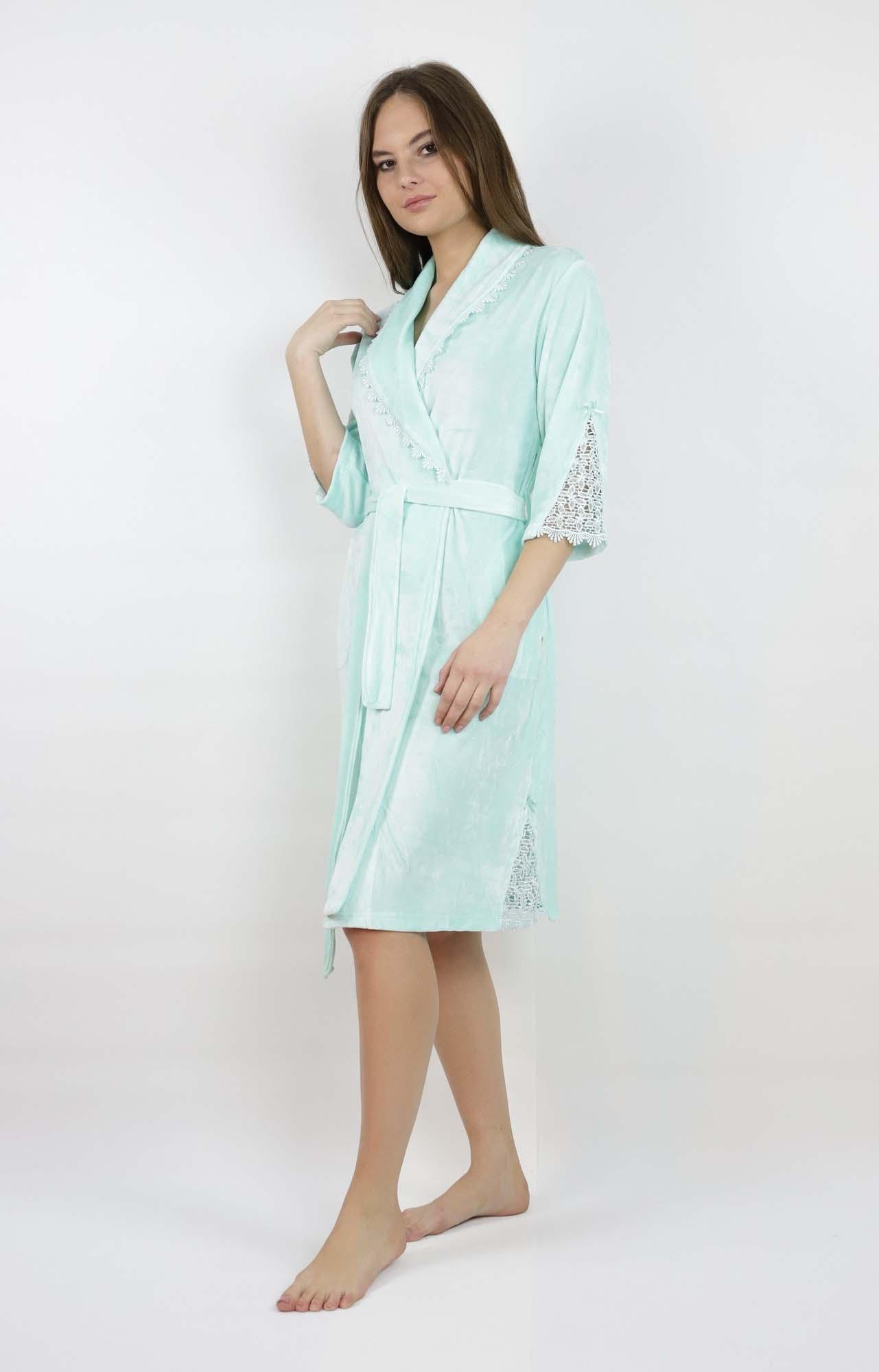 Банный халат Lauren Цвет: Ментоловый (M) Nusa nus689399