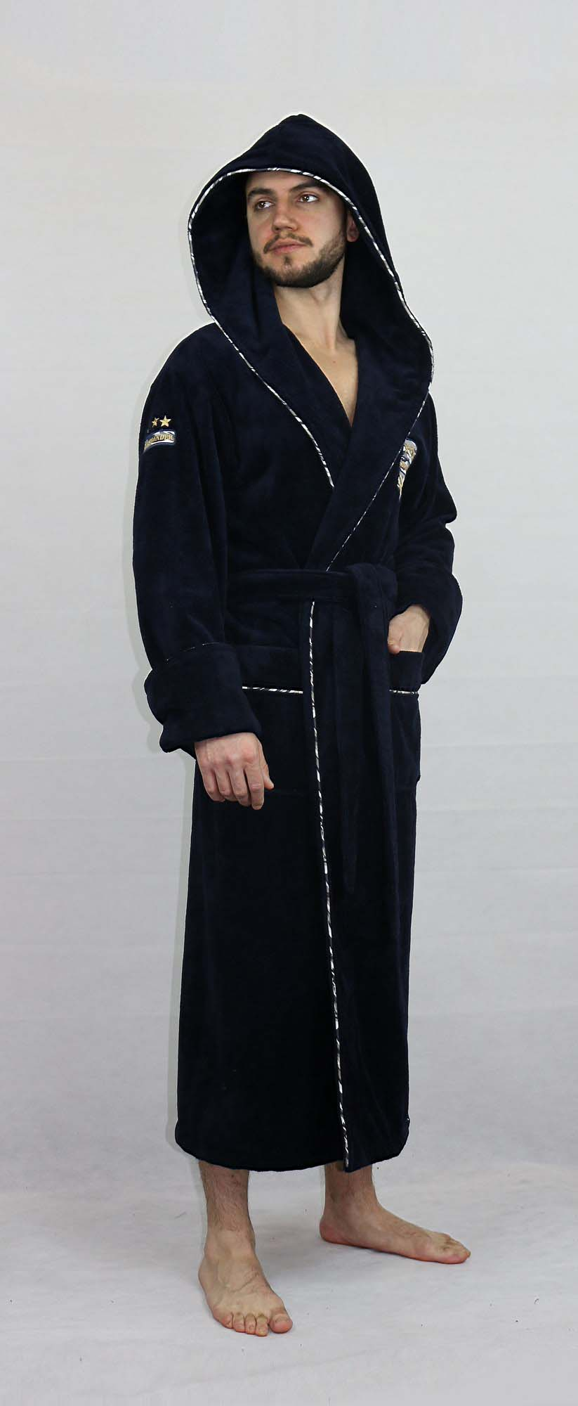 Банный халат Sandal Цвет: Темно-Синий (L-xL) Nusa nus689201