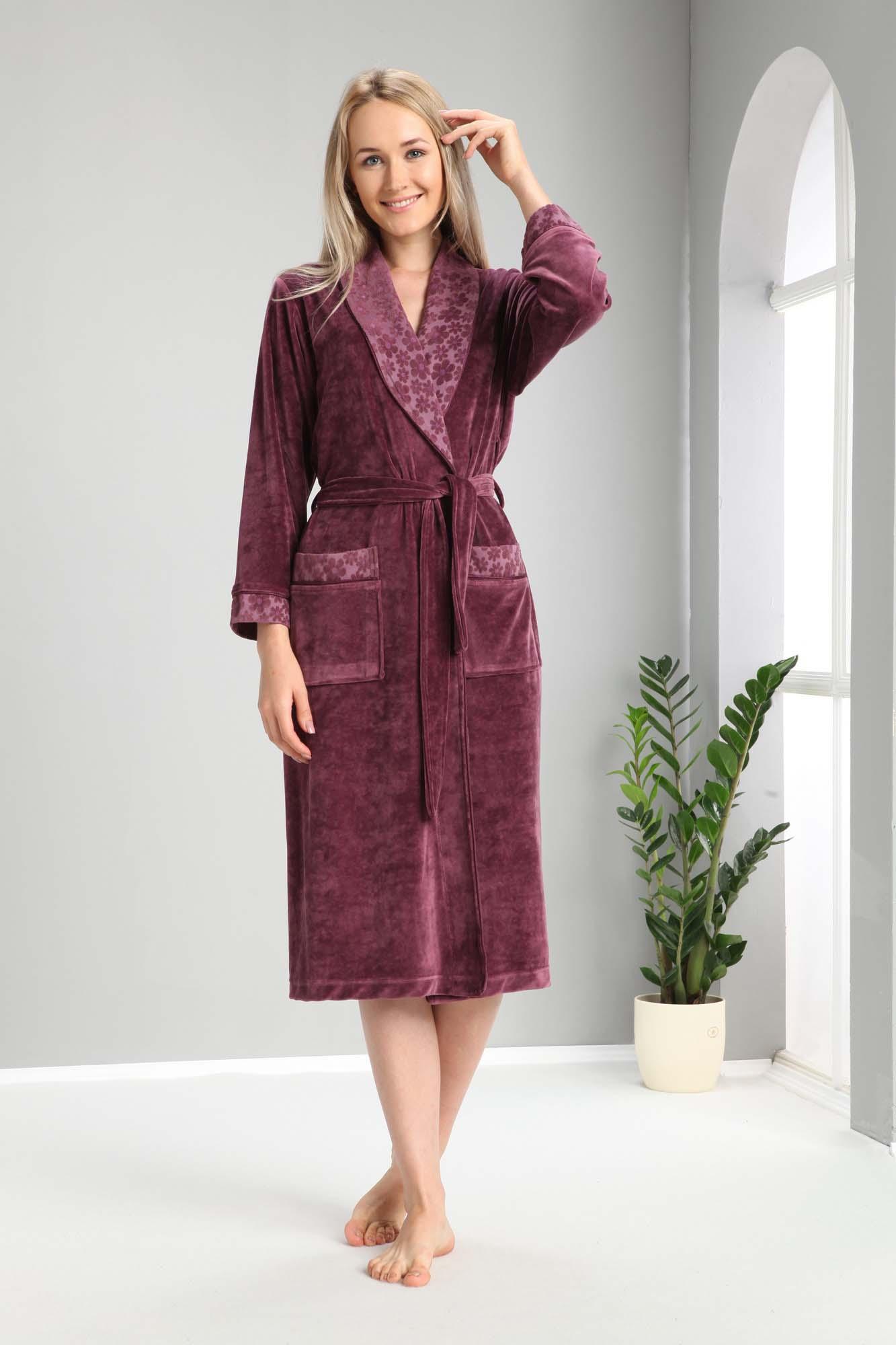 Банный халат Loyayellow Цвет: Фиолетовый (L-xL) Nusa nus689130