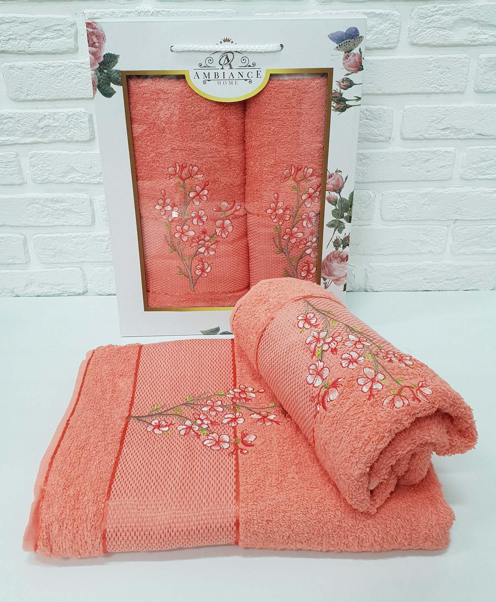 Набор полотенец Caelan Цвет: Оранжевый (50х90 см,70х140 см)
