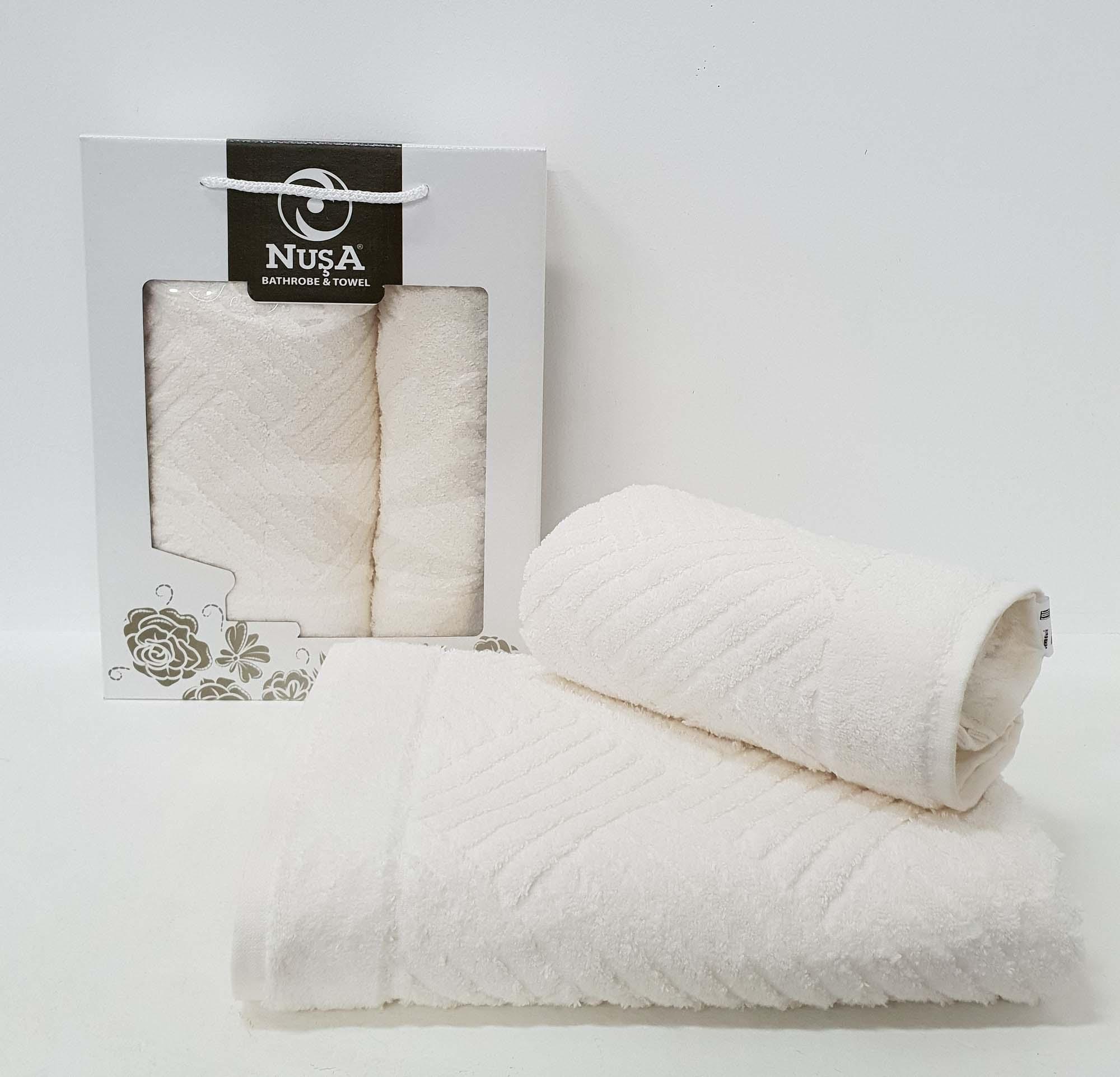 Набор полотенец Ahern Цвет: Кремовый (50х90 см,70х140 см)