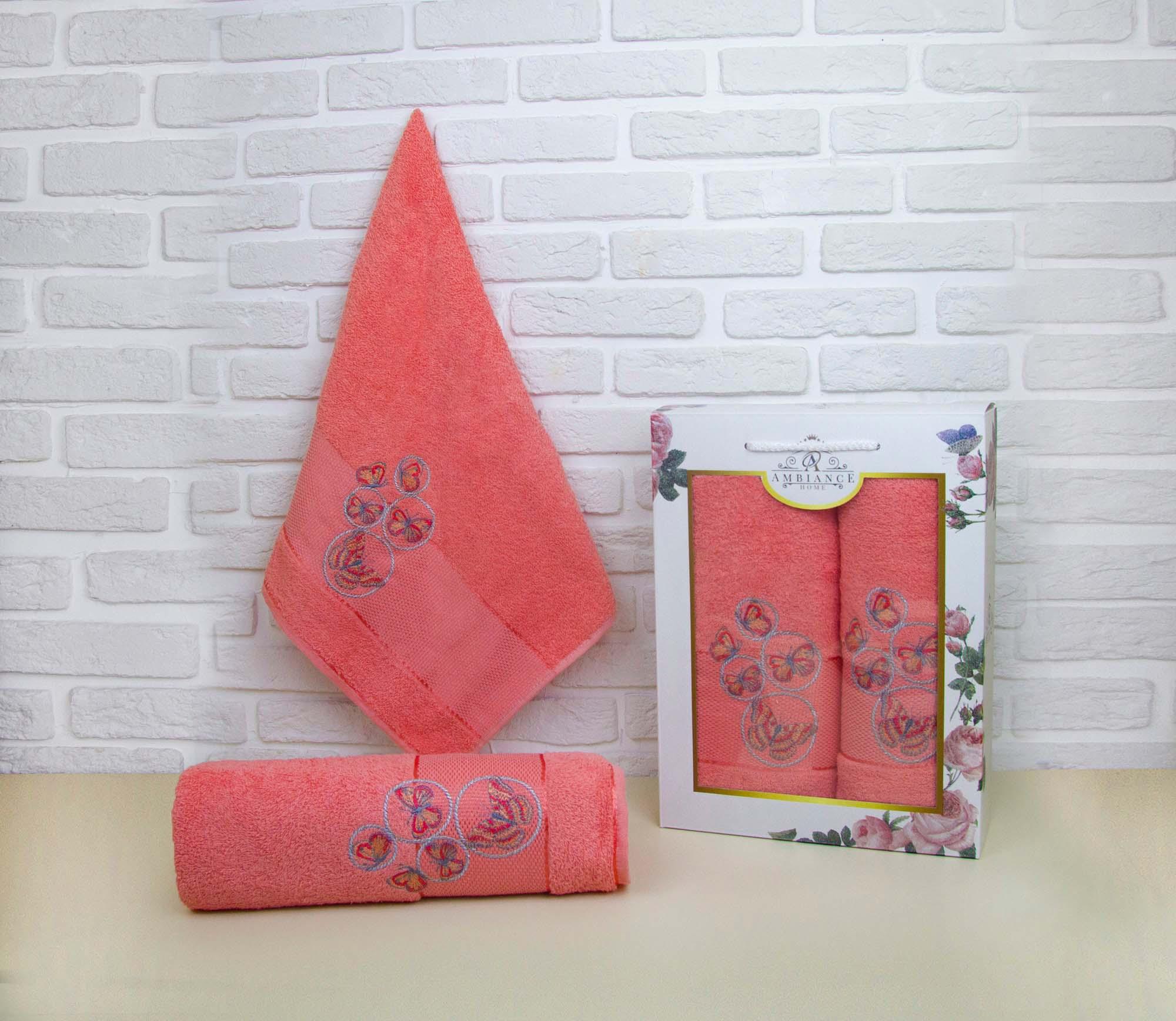 Набор полотенец Emmie Цвет: Оранжевый (50х90 см,70х140 см)