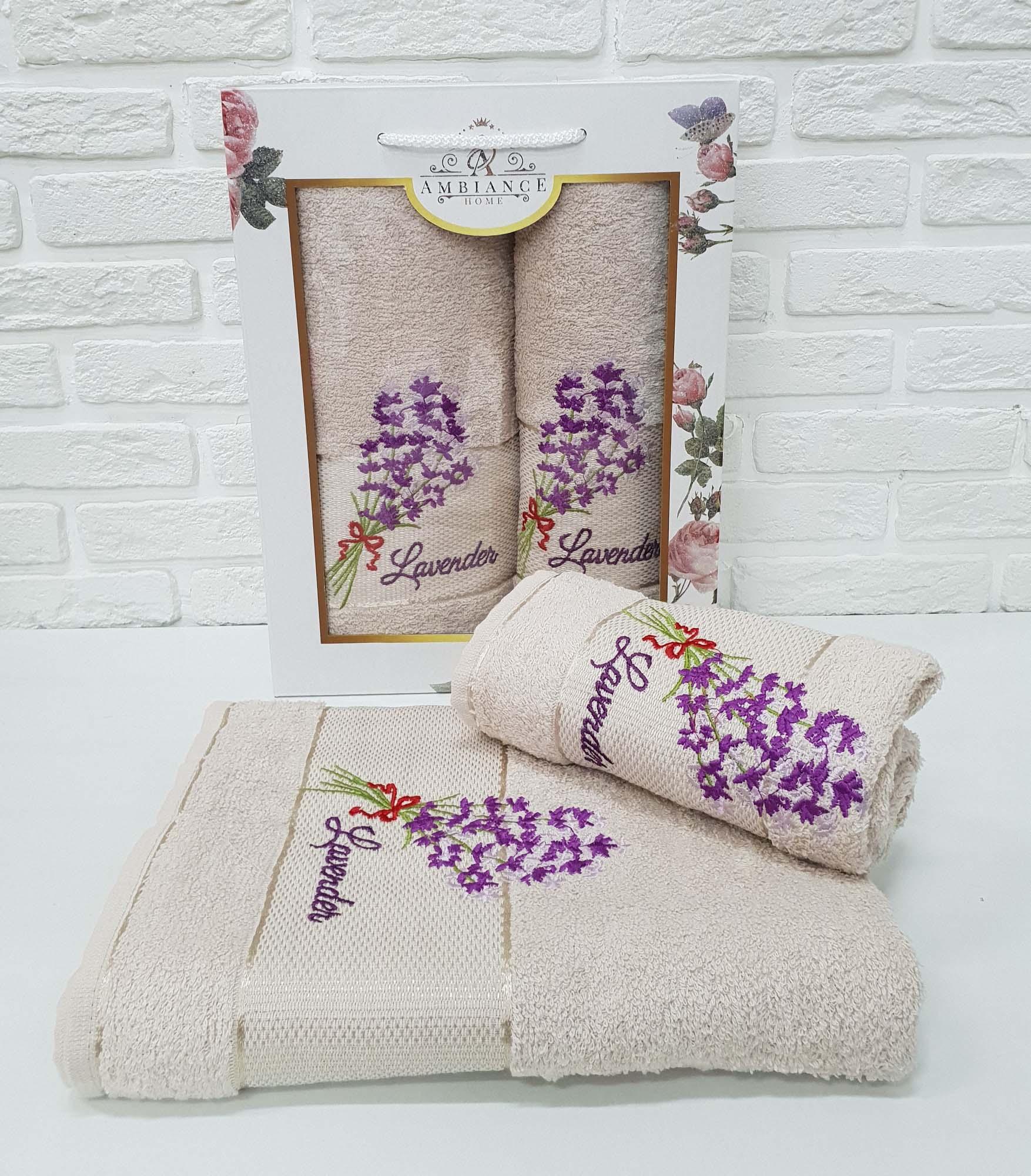Набор полотенец Shawnee Цвет: Бежевый (50х90 см,70х140 см)