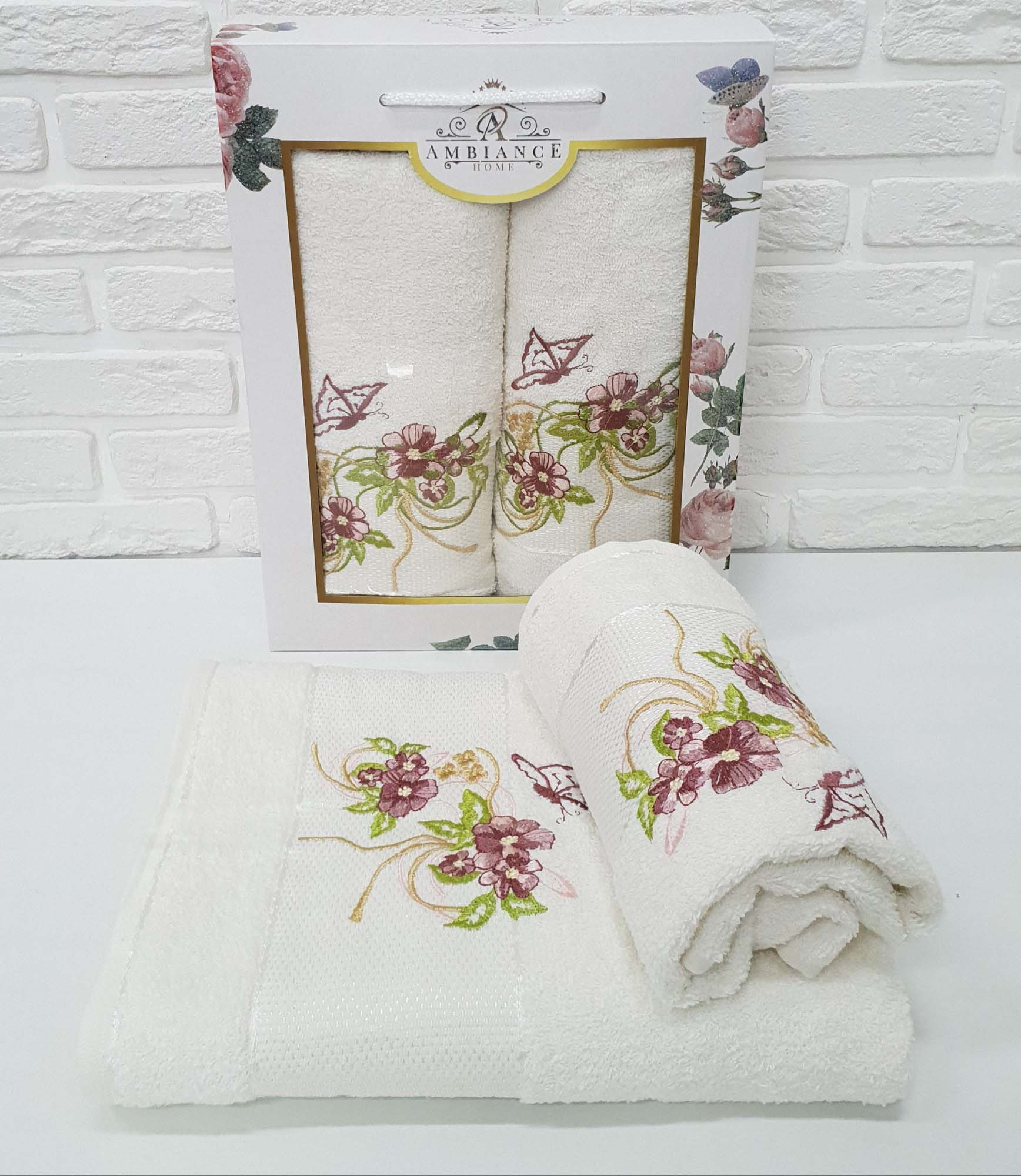 Набор полотенец August Цвет: Кремовый (50х90 см,70х140 см)