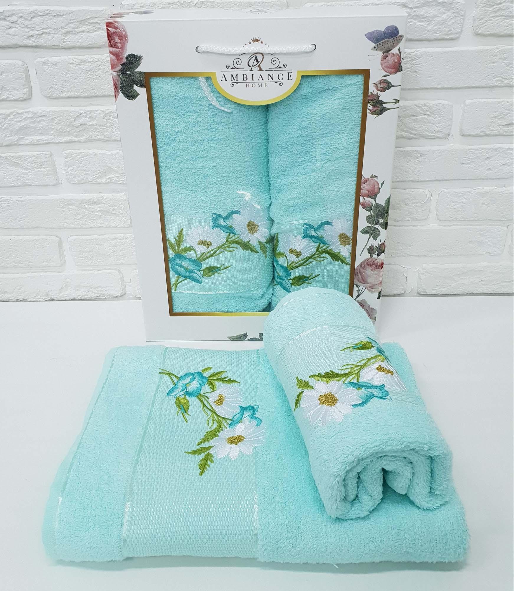 Набор полотенец Alonzo Цвет: Ментоловый (50х90 см,70х140 см)