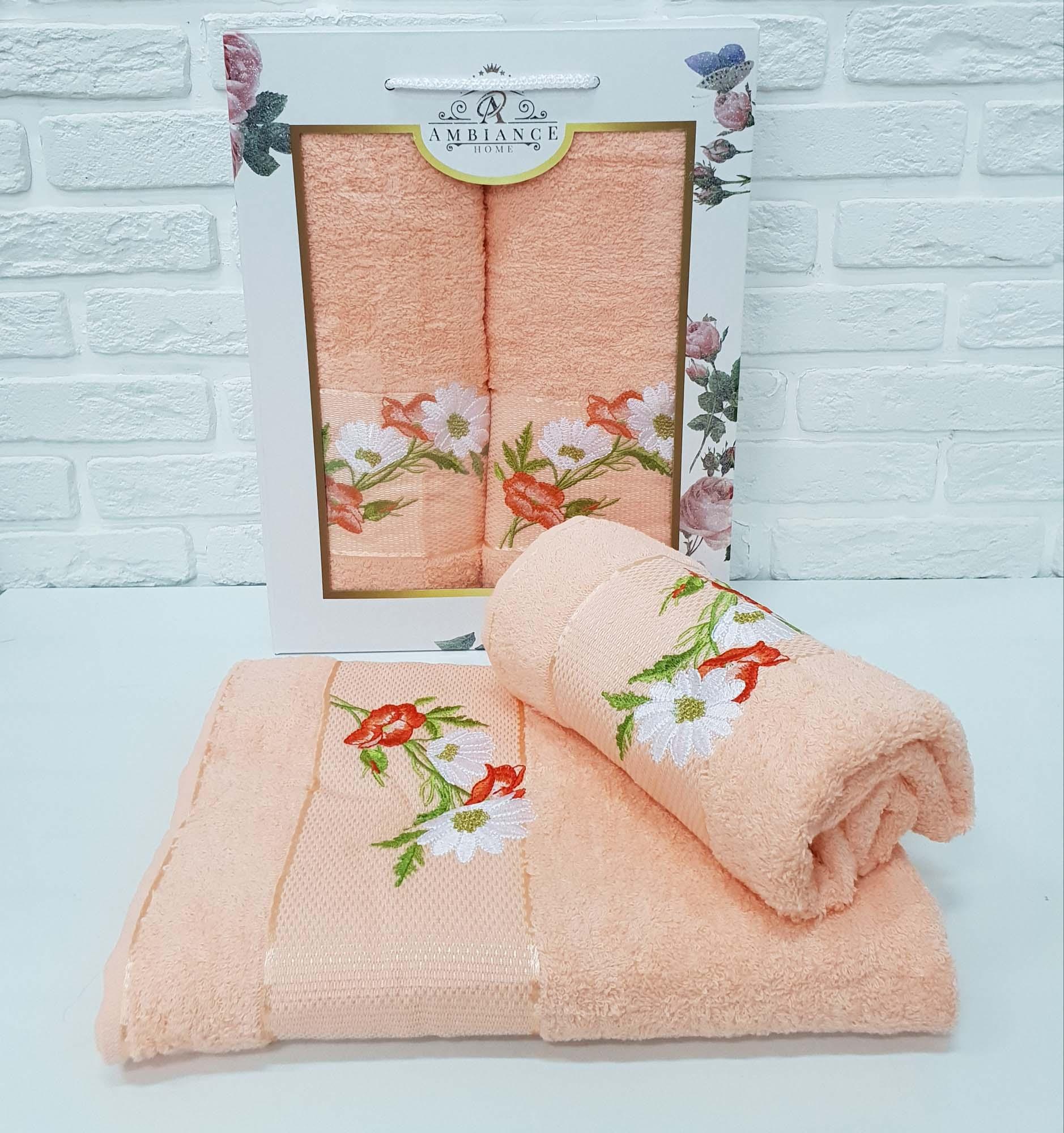 Набор полотенец Alonzo Цвет: Персиковый (50х90 см,70х140 см)