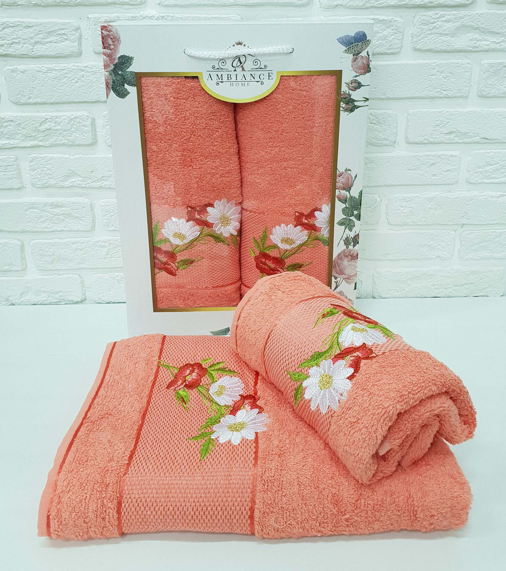 Набор полотенец Alonzo Цвет: Оранжевый (50х90 см,70х140 см)