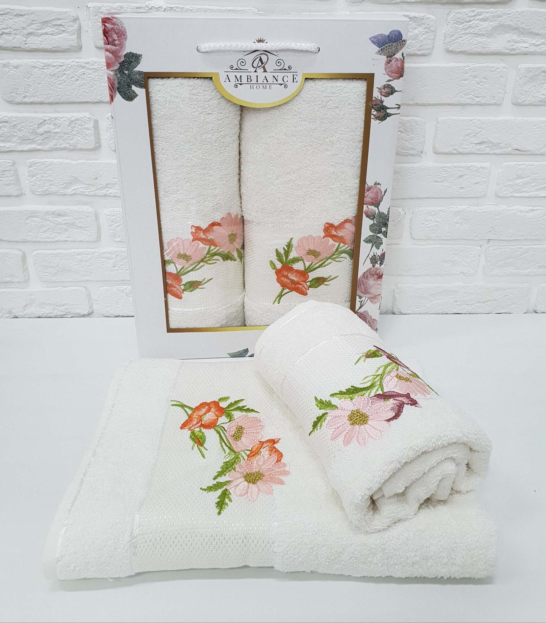 Набор полотенец Alonzo Цвет: Кремовый (50х90 см,70х140 см)