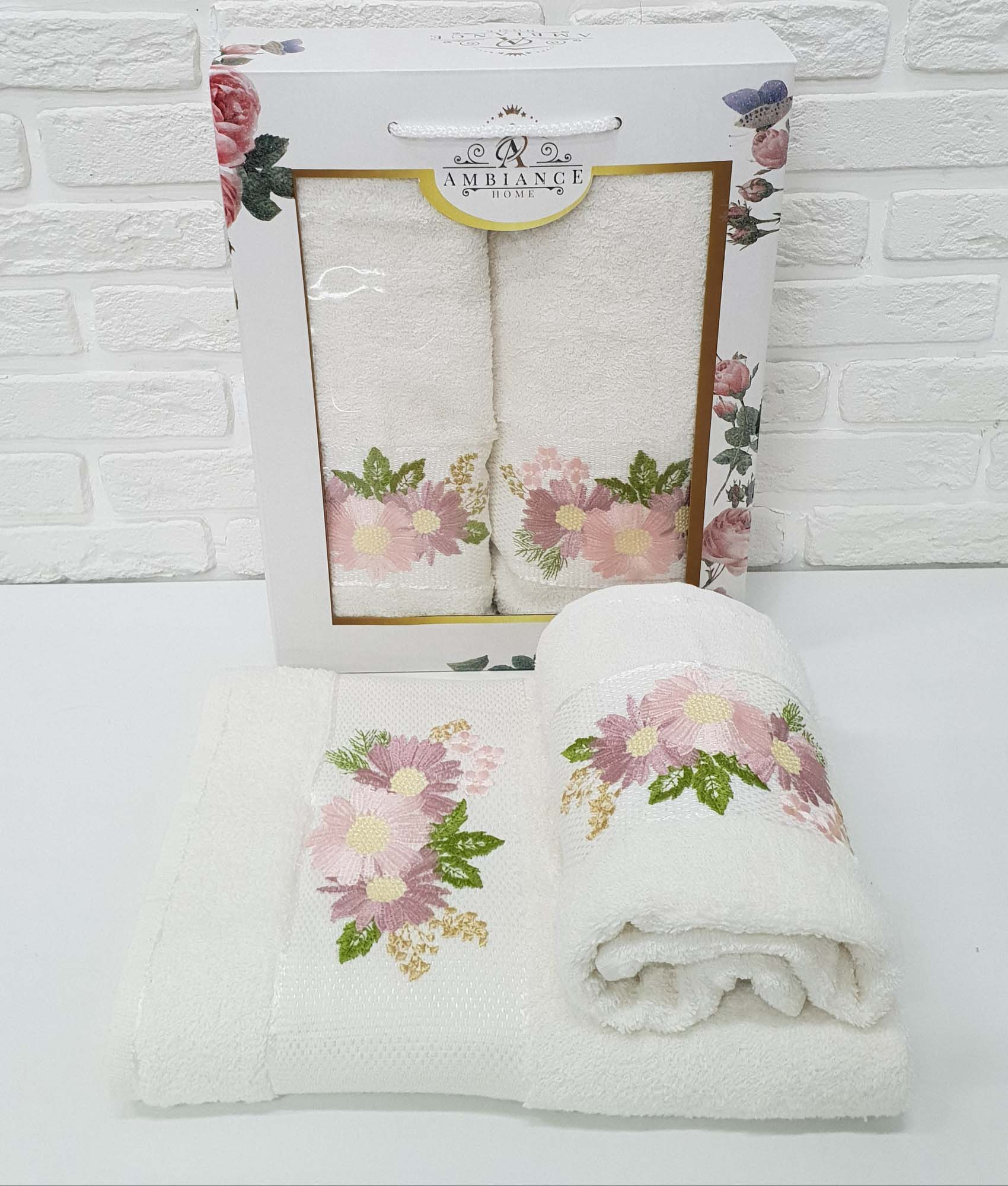 Набор полотенец Lacy Цвет: Кремовый (50х90 см,70х140 см)