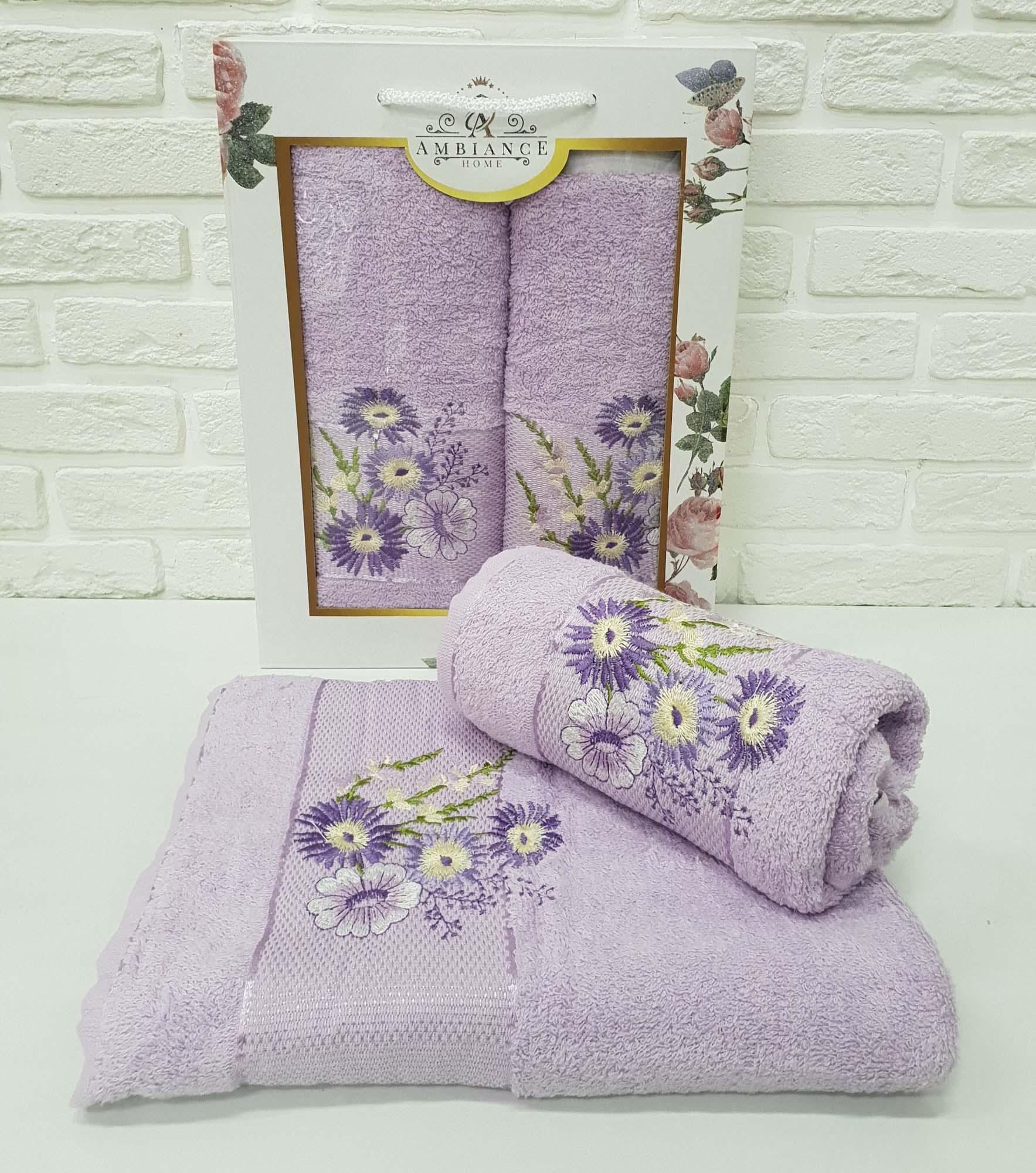 Набор полотенец Buddy Цвет: Лиловый (50х90 см,70х140 см)