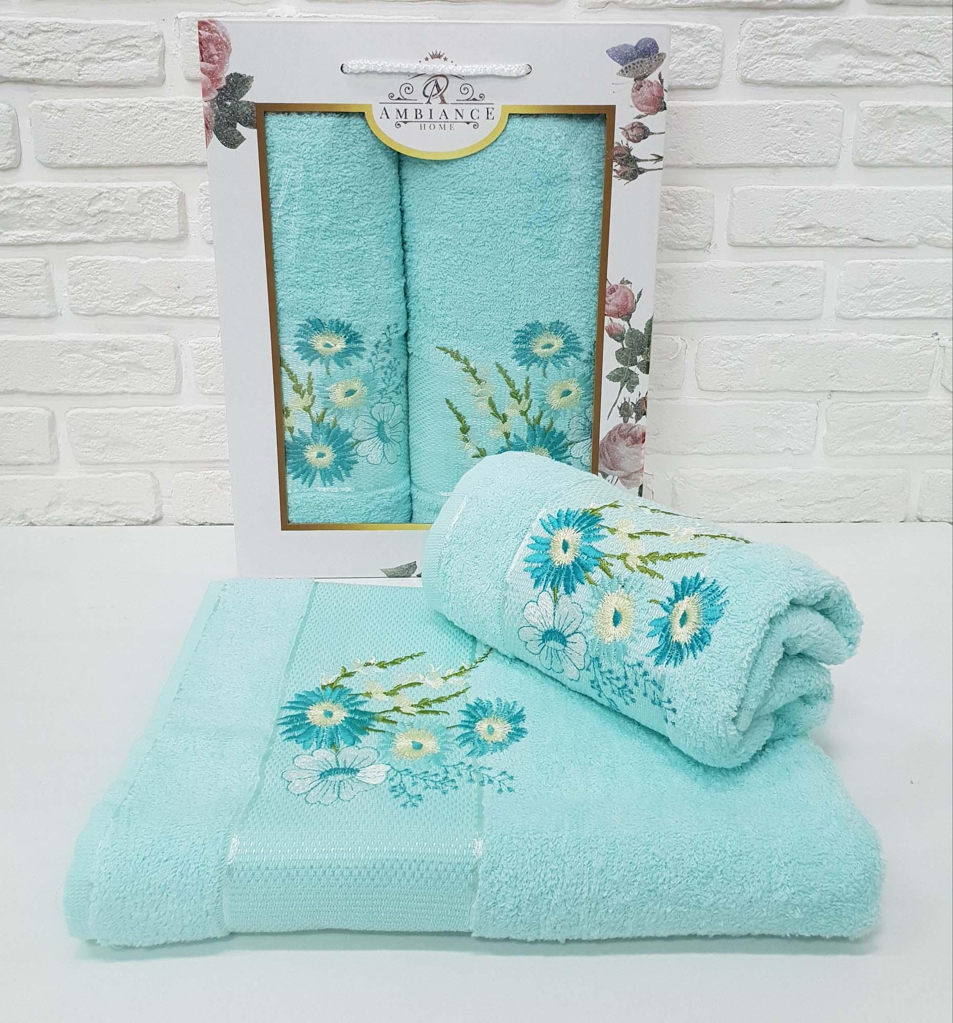 Набор полотенец Buddy Цвет: Ментоловый (50х90 см,70х140 см)