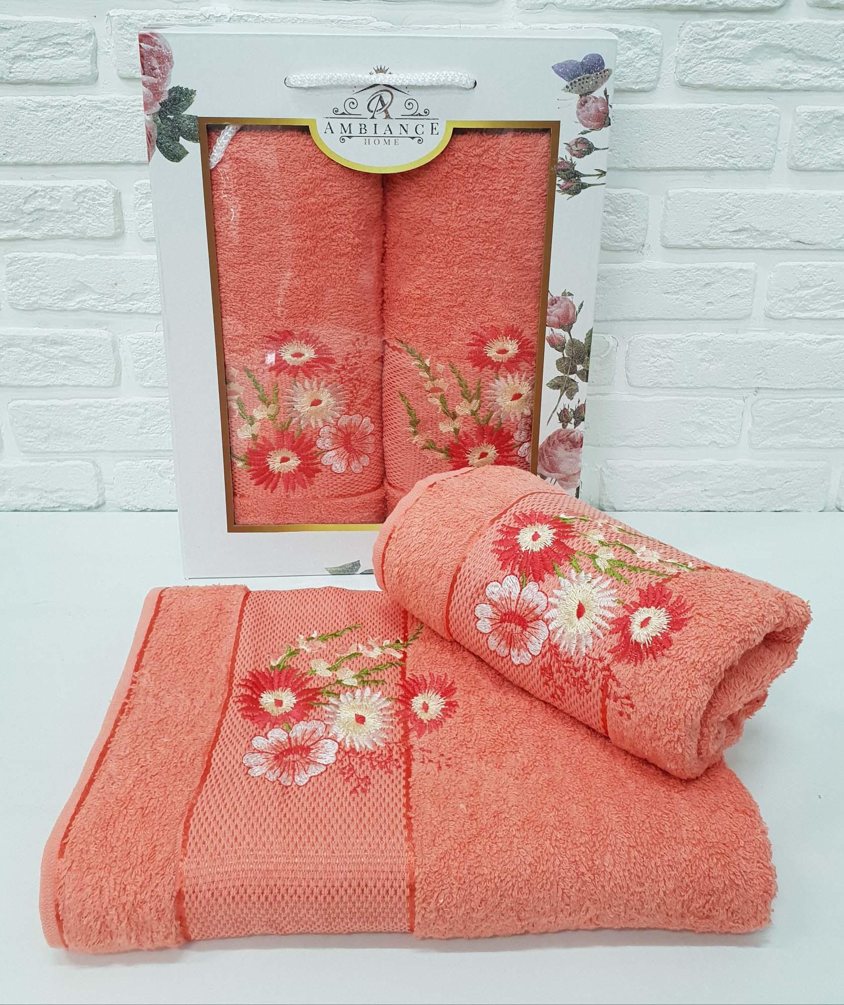 Набор полотенец Buddy Цвет: Оранжевый (50х90 см,70х140 см)